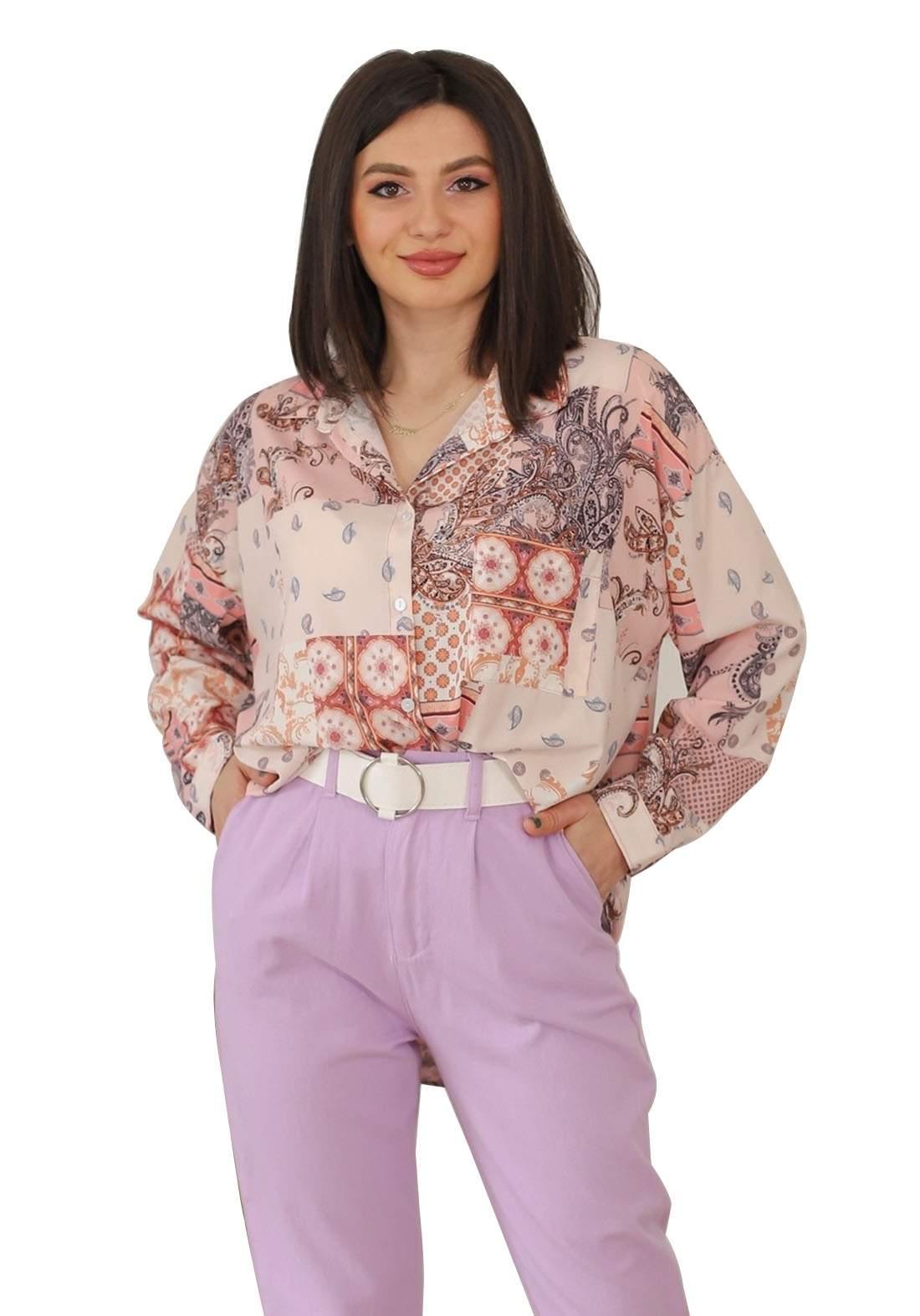 قميص فيرزاتجي وردي اللون