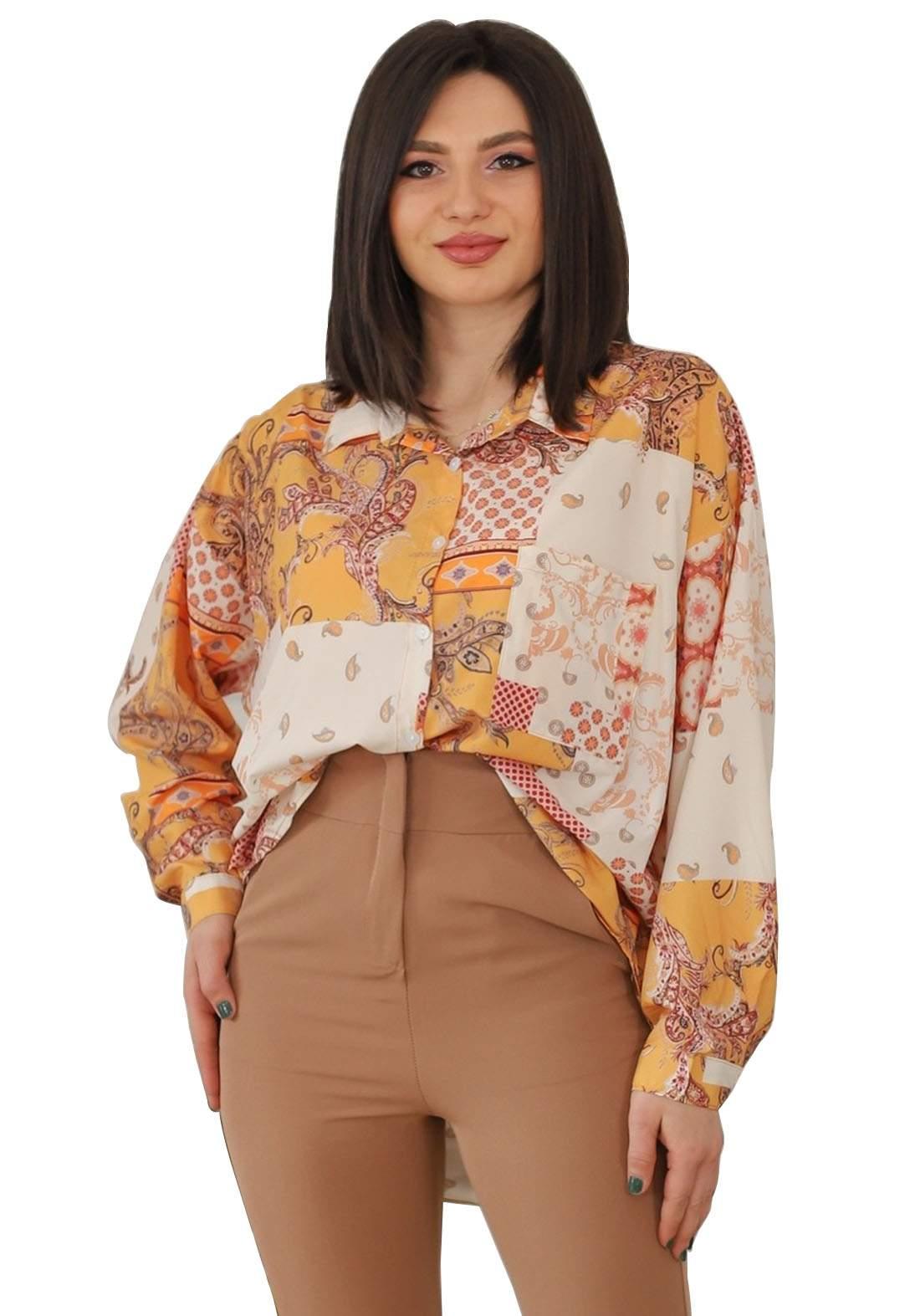 قميص فيرزاتجي بيجي اللون
