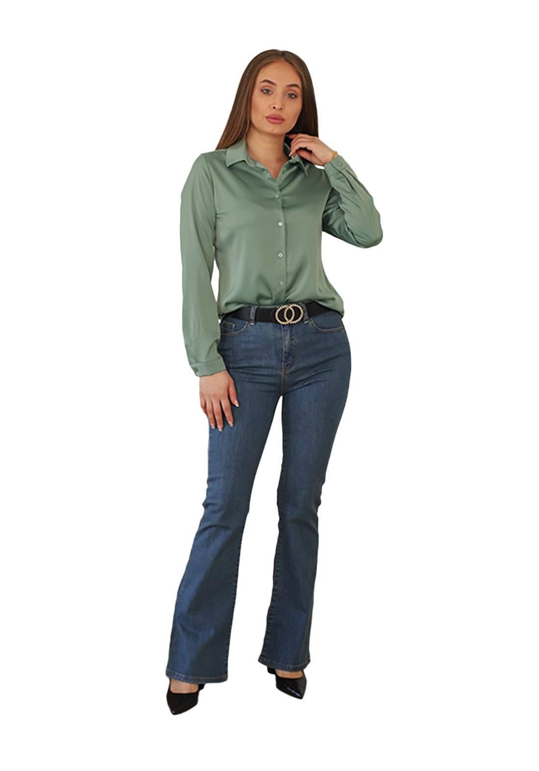 قميص نسائي اخضرفاتح اللون