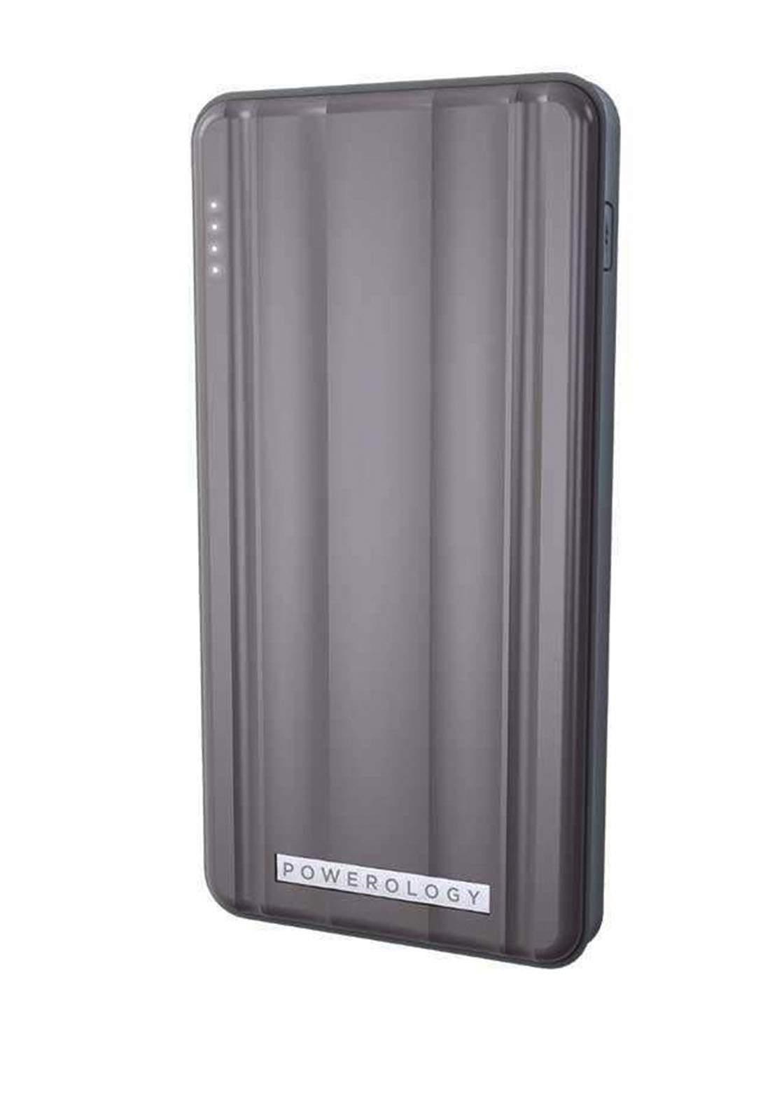 Powerology P10QCPDGY 10000mah  PD 18W Power Bank - Gray شاحن محمول