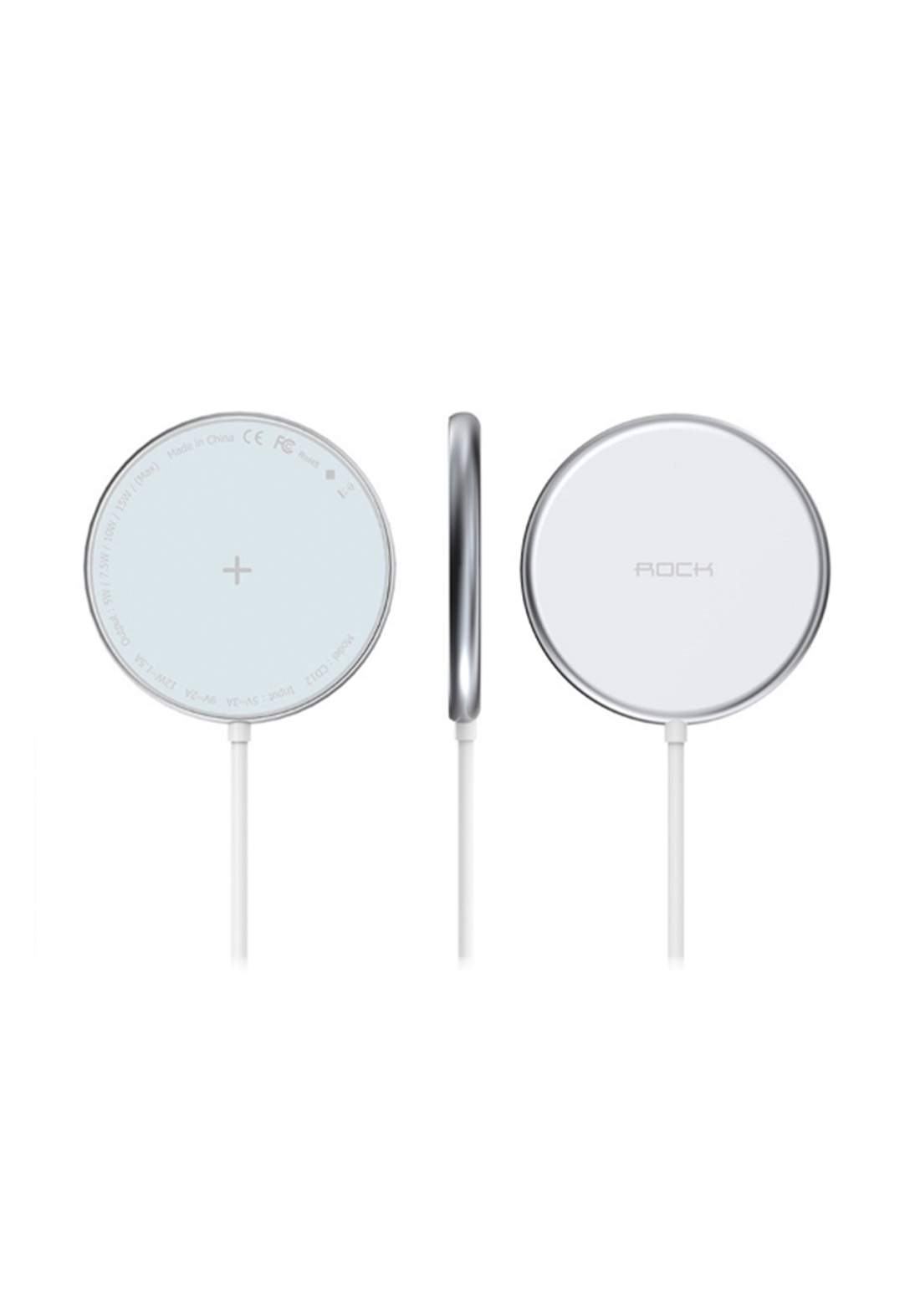 Rock W33 Portable Mini Magnetic Magsafe Wireless Charger - White