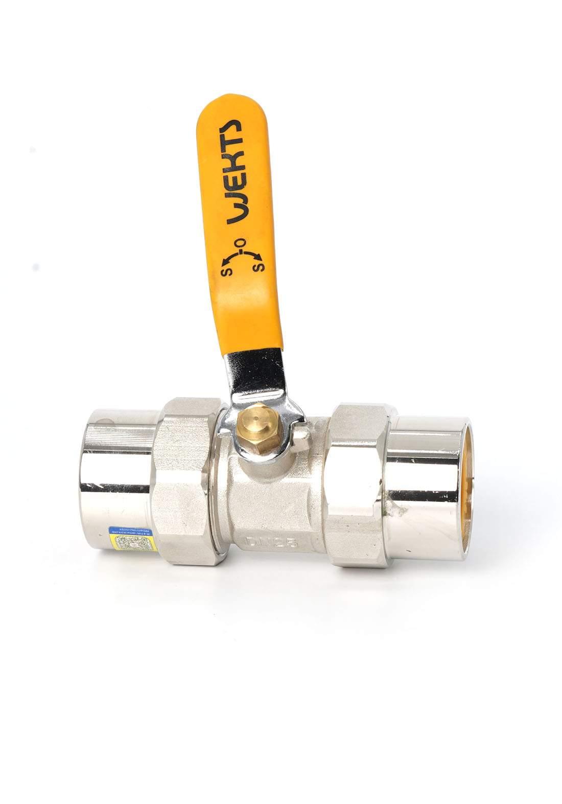 Wekts 5124 Double Chrome Flat Lock 32 mm قفل انابيب مزدوج مسطح لأنابيب المياه
