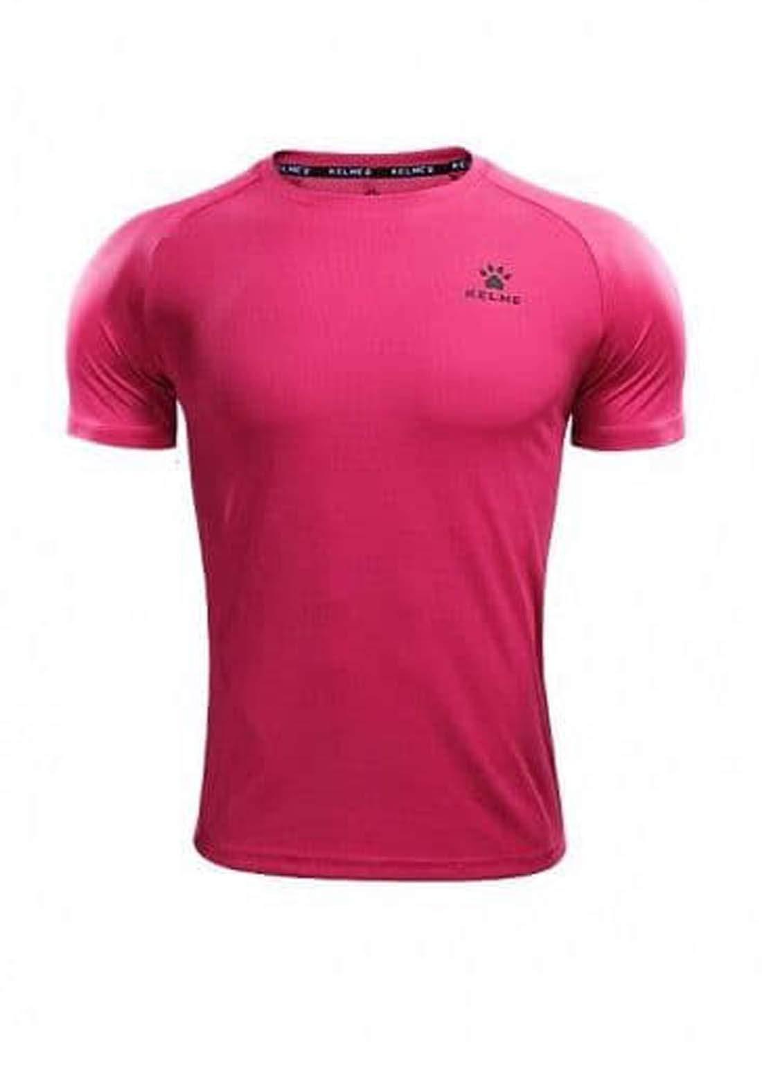 تيشيرت رياضي رجالي وردي اللون من Kelme