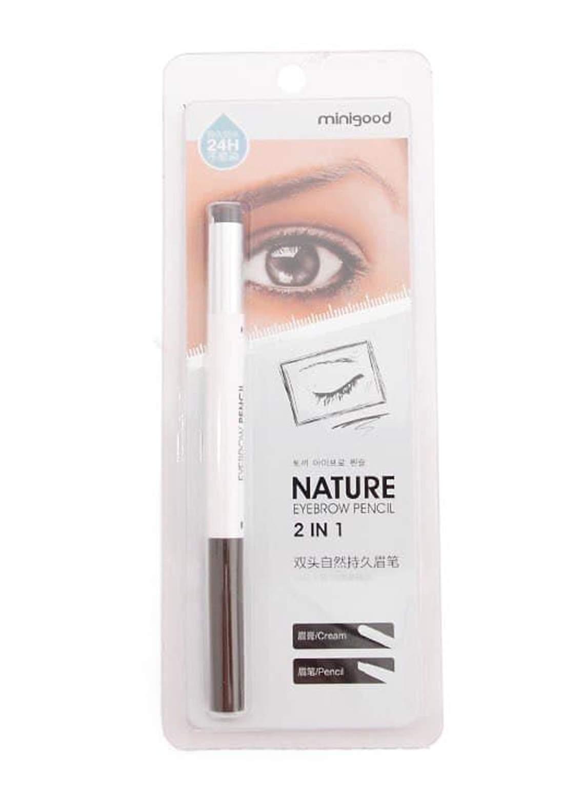 Minigood Nature Eyebrow Pencil 2in1 No.19 قلم تحديد الحواجب