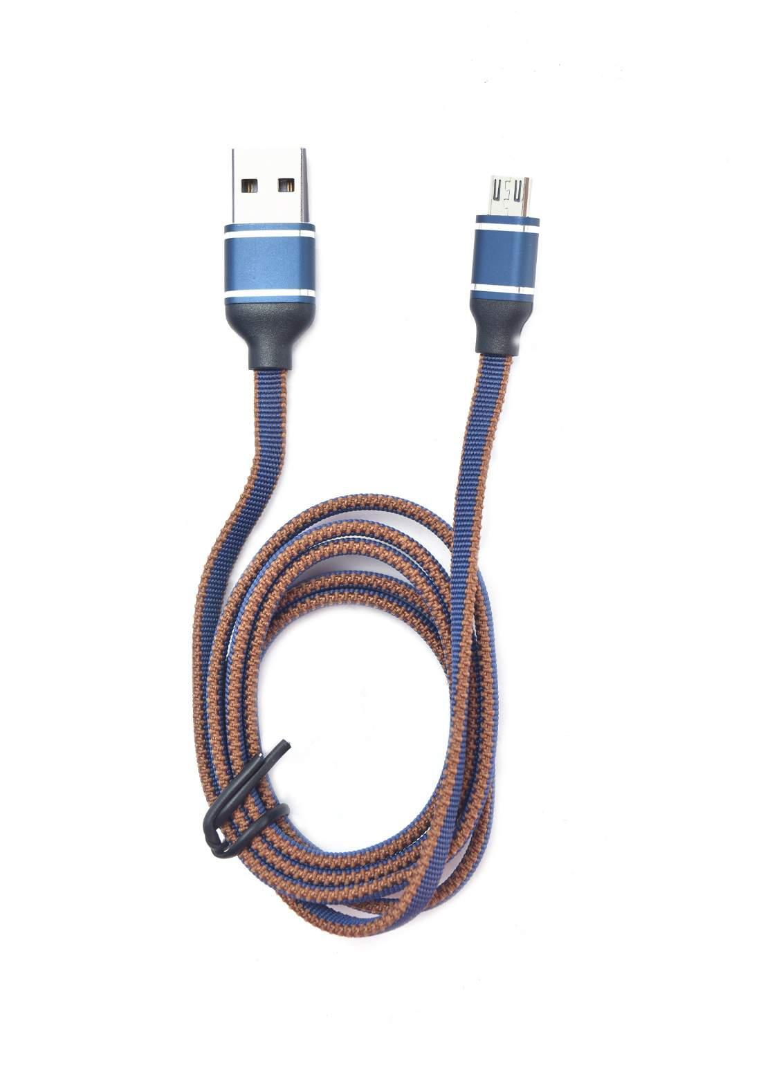 Minigood Fast USB Data Cable 1m  - Navy Blue كابل