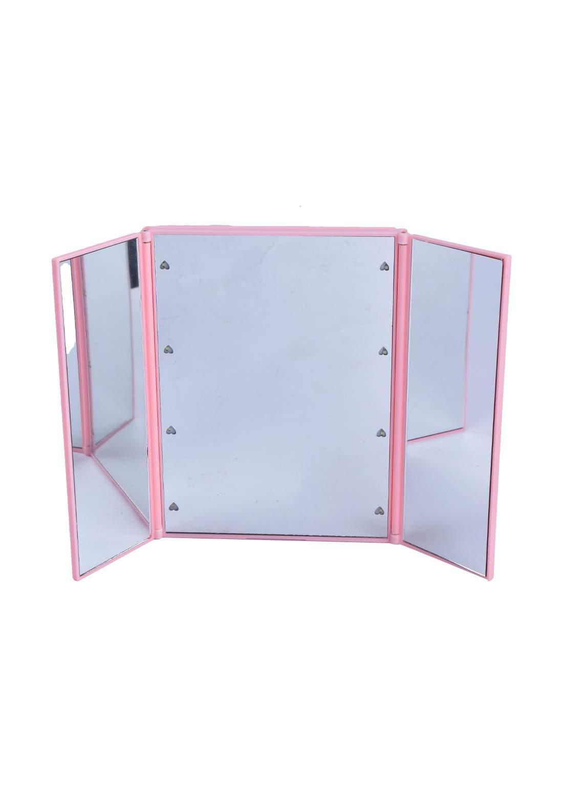 Foldable Cosmetic Mirror With Led  مرآة  قابلة للدوران مع انارة ضوئية