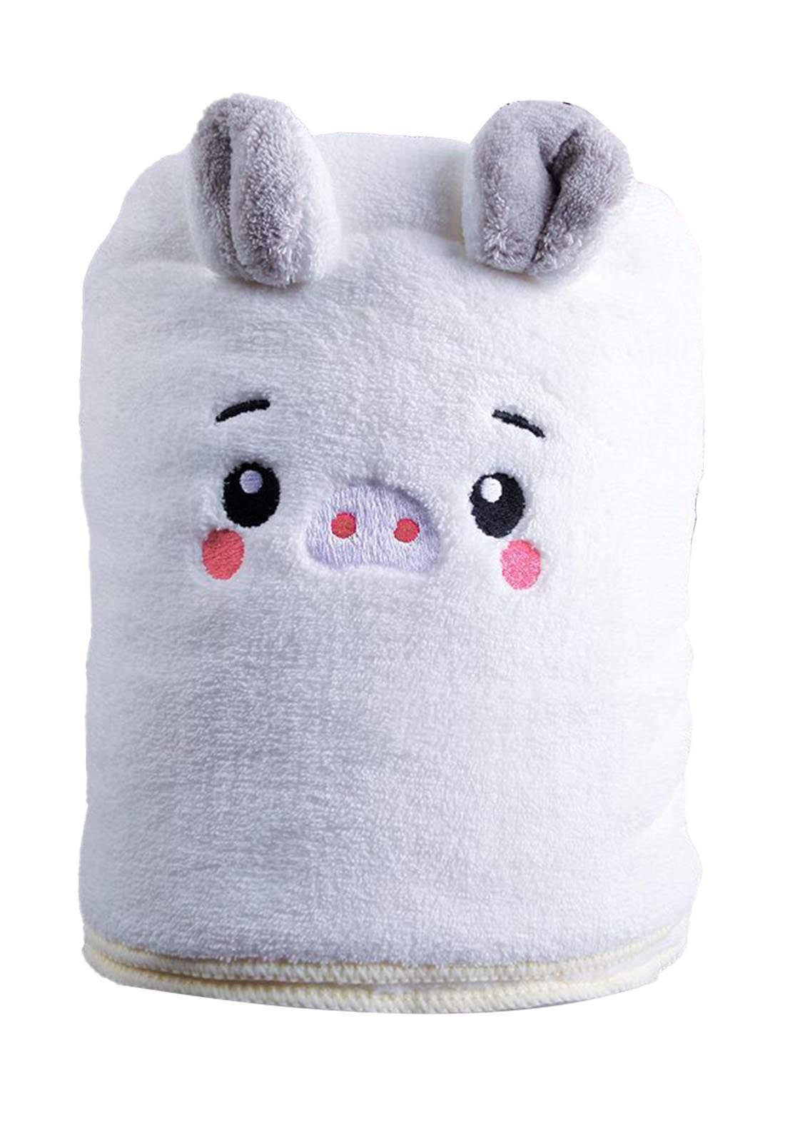 منشفة أطفال أبيض اللون