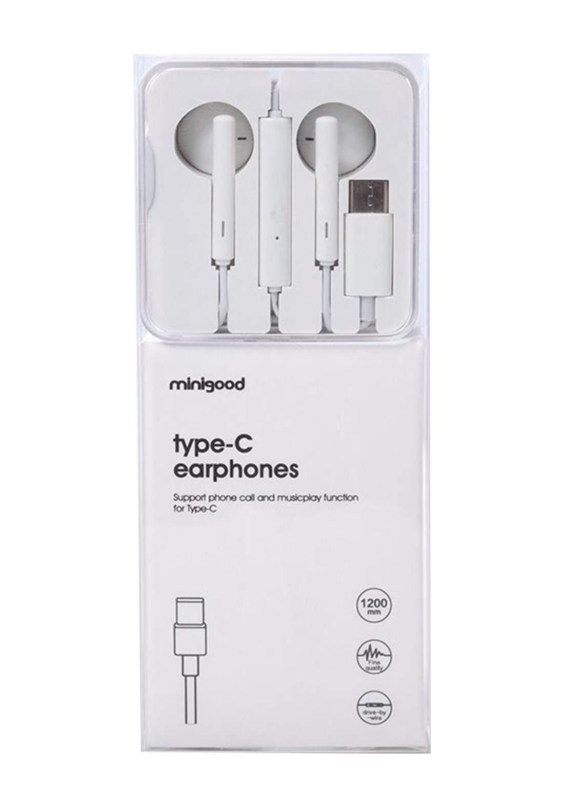 TypeC Earphones - White سماعة