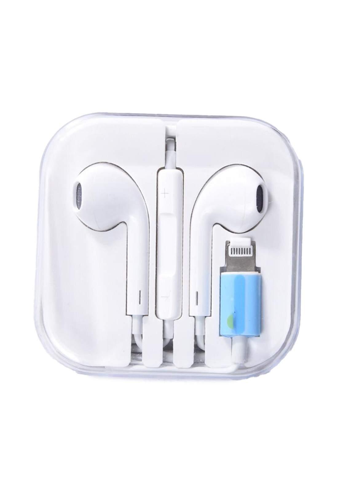 Earphones Lightning For Iphone   - White سماعة
