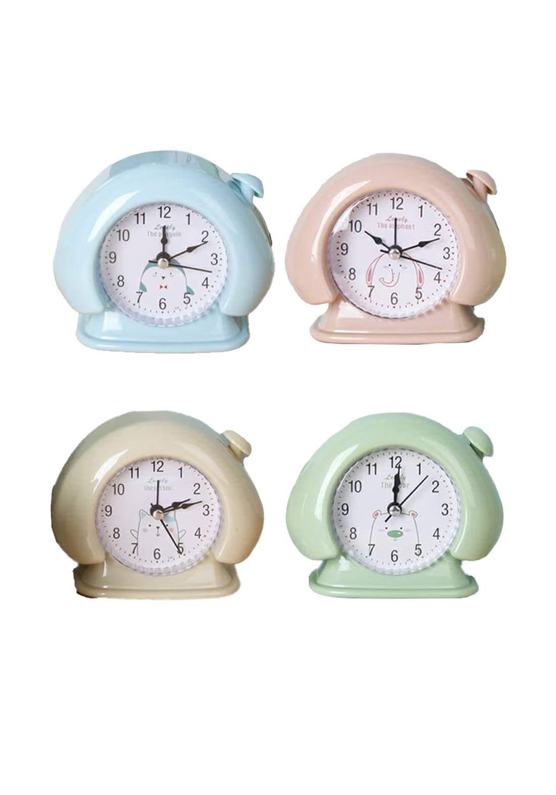 Round Double Bell Alarm Cloc'k ساعة منضدية