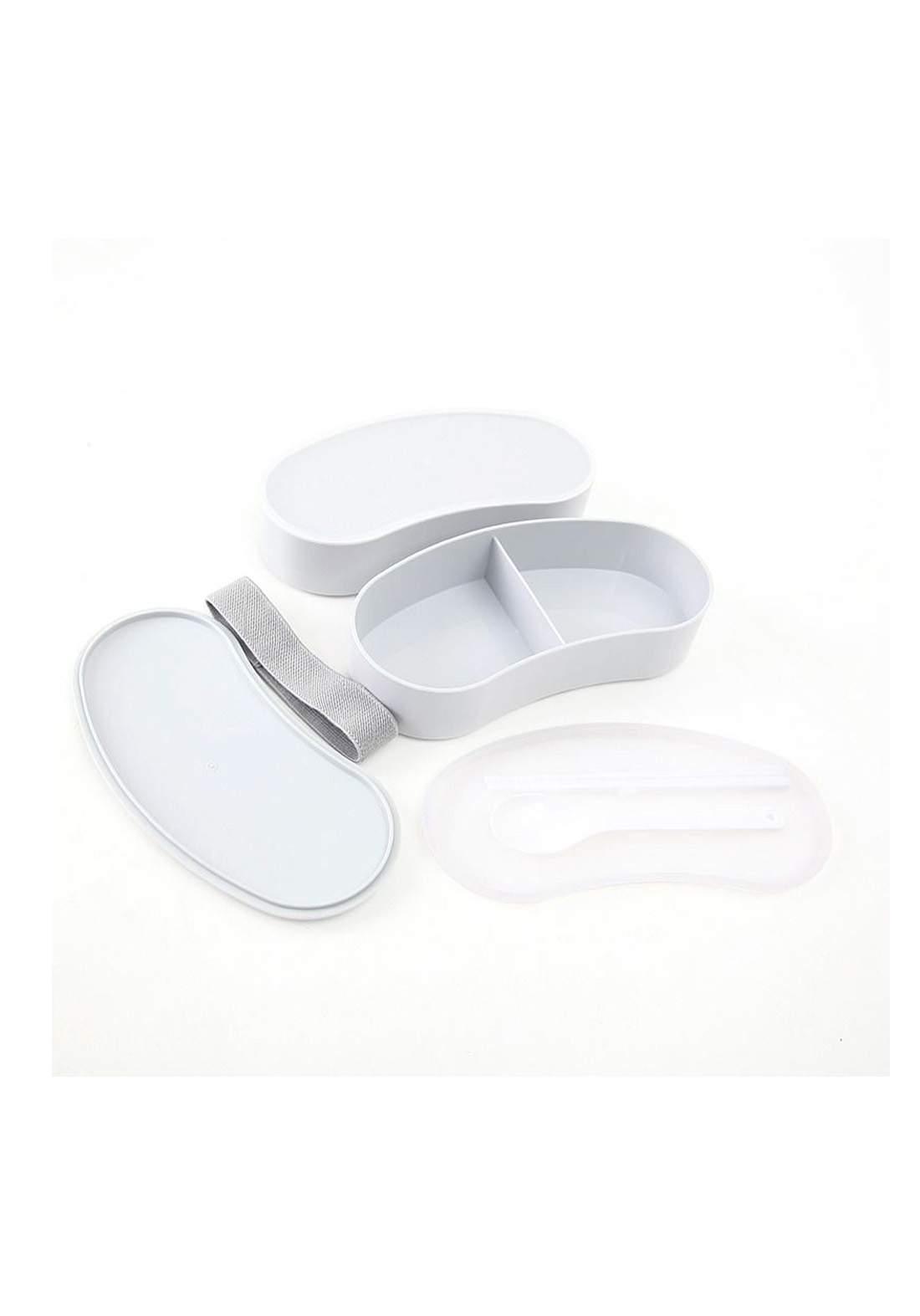 حافظة طعام بلاستيك بيضاء اللون