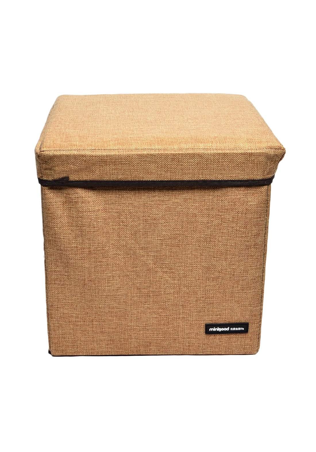 صندوق تخزين قابل للطي مع غطاء