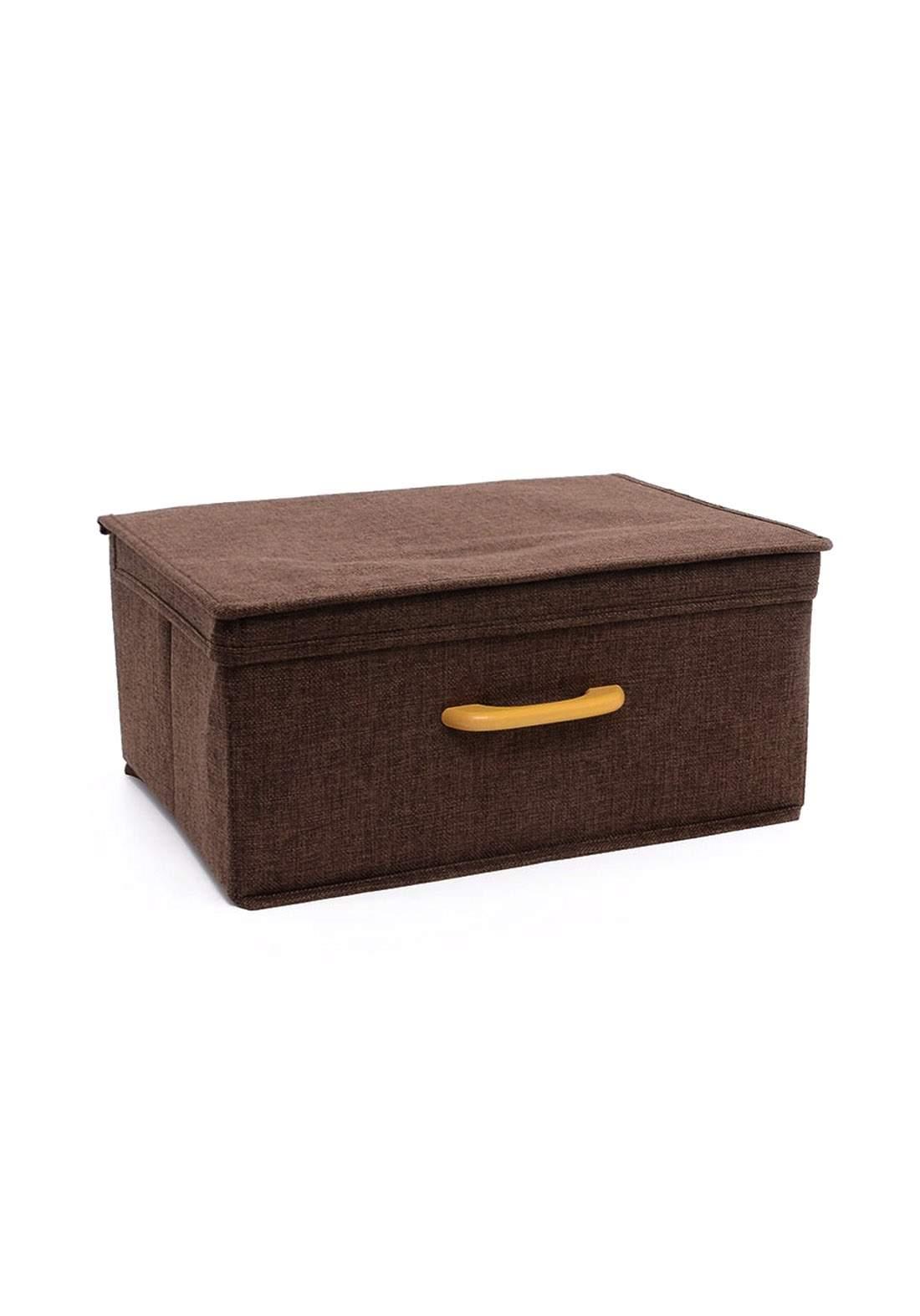 صندوق مستطيل تخزين قابل للطي مع غطاء