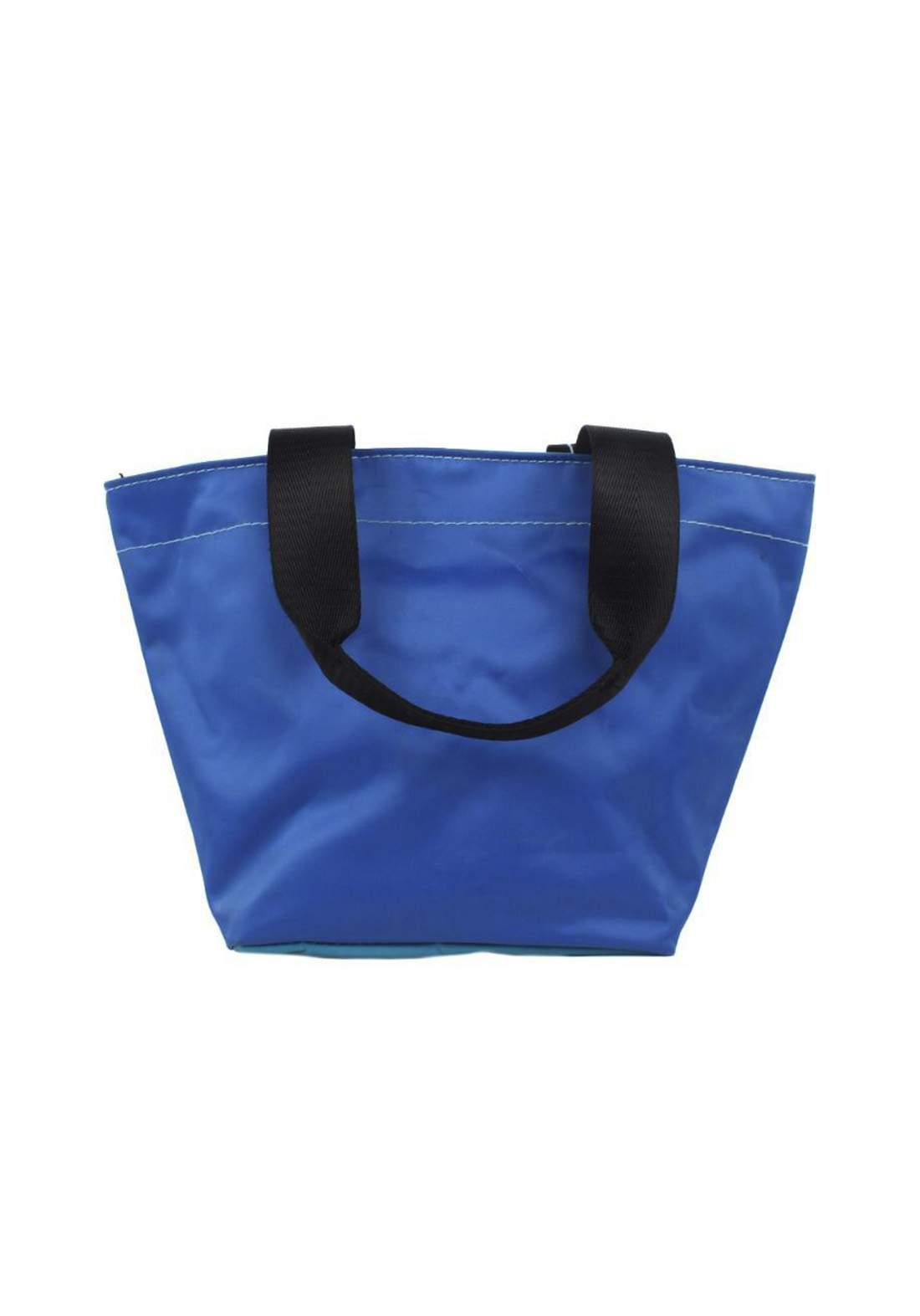 حقيبة قماش أزرق اللون