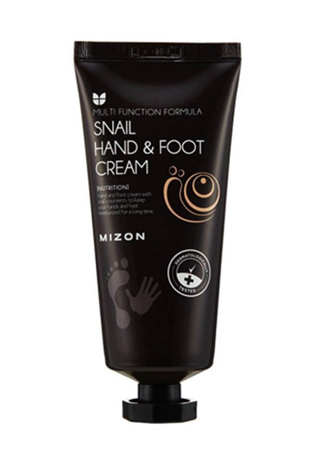 Mizon Snail Mucin Hand & Foot Cream 100ml  كريم  الحلزون لليدين والقدمين
