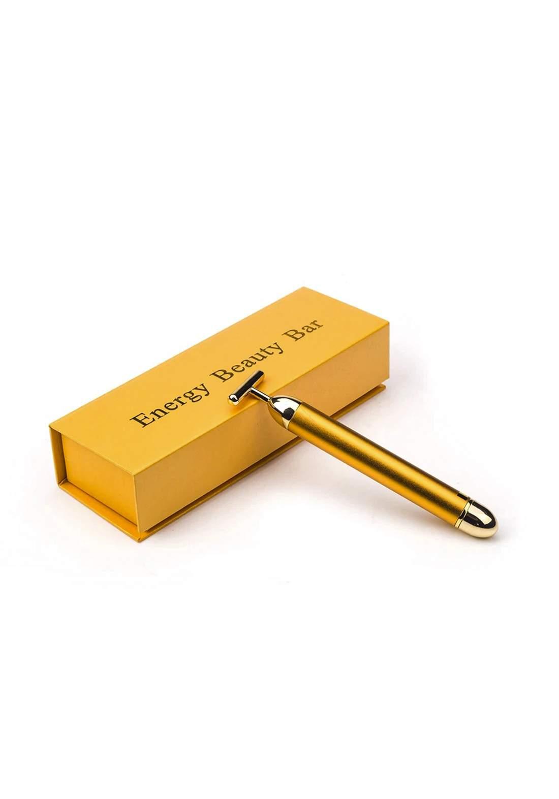 Energy Beauty Bar 24k Golden Vibrating Facial Roller Massager اداة تدليك البشرة