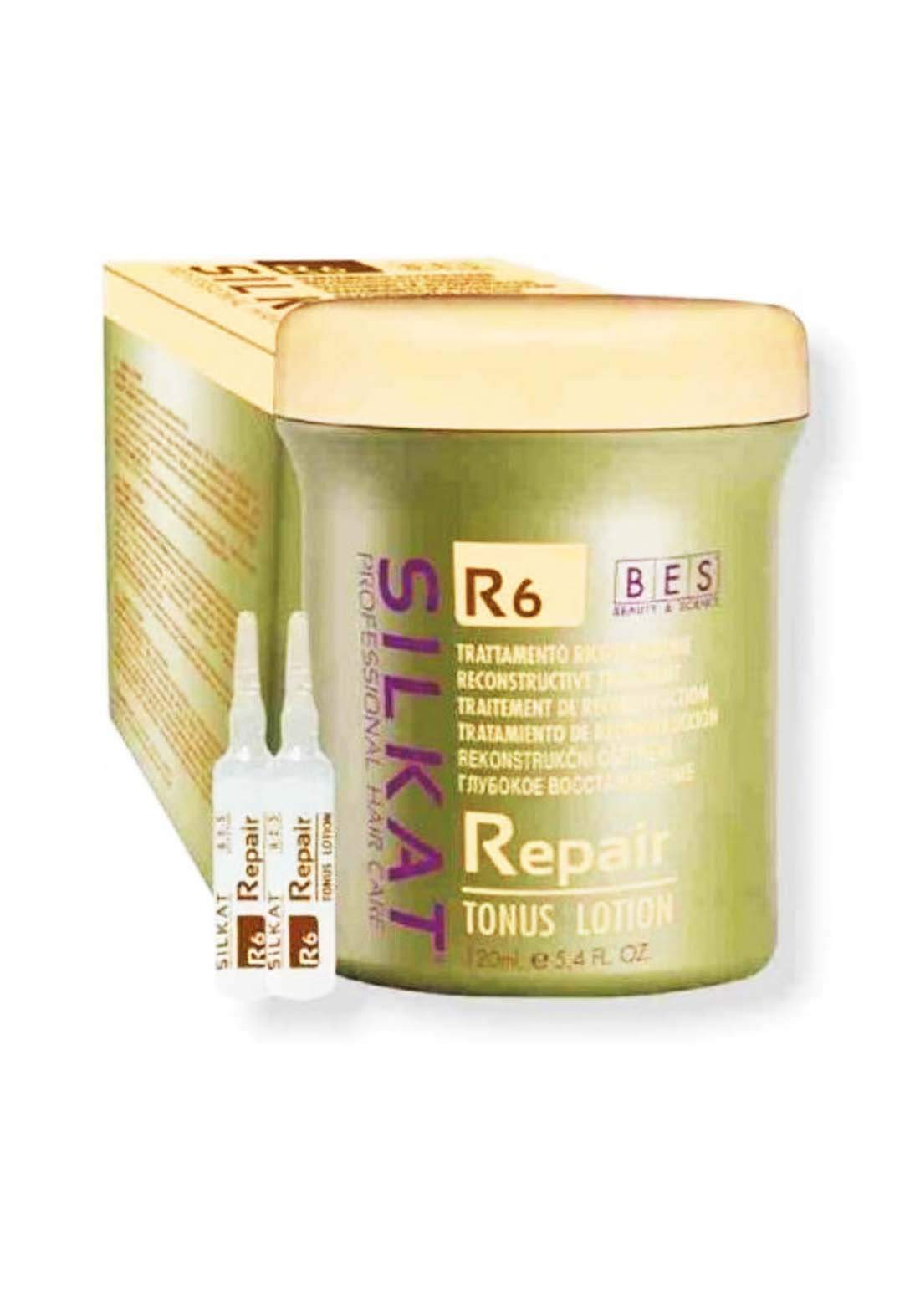 Bes  Beauty & Science Silkat R6 Repair Tonus Lotion 12x 10ml امبولات شعر
