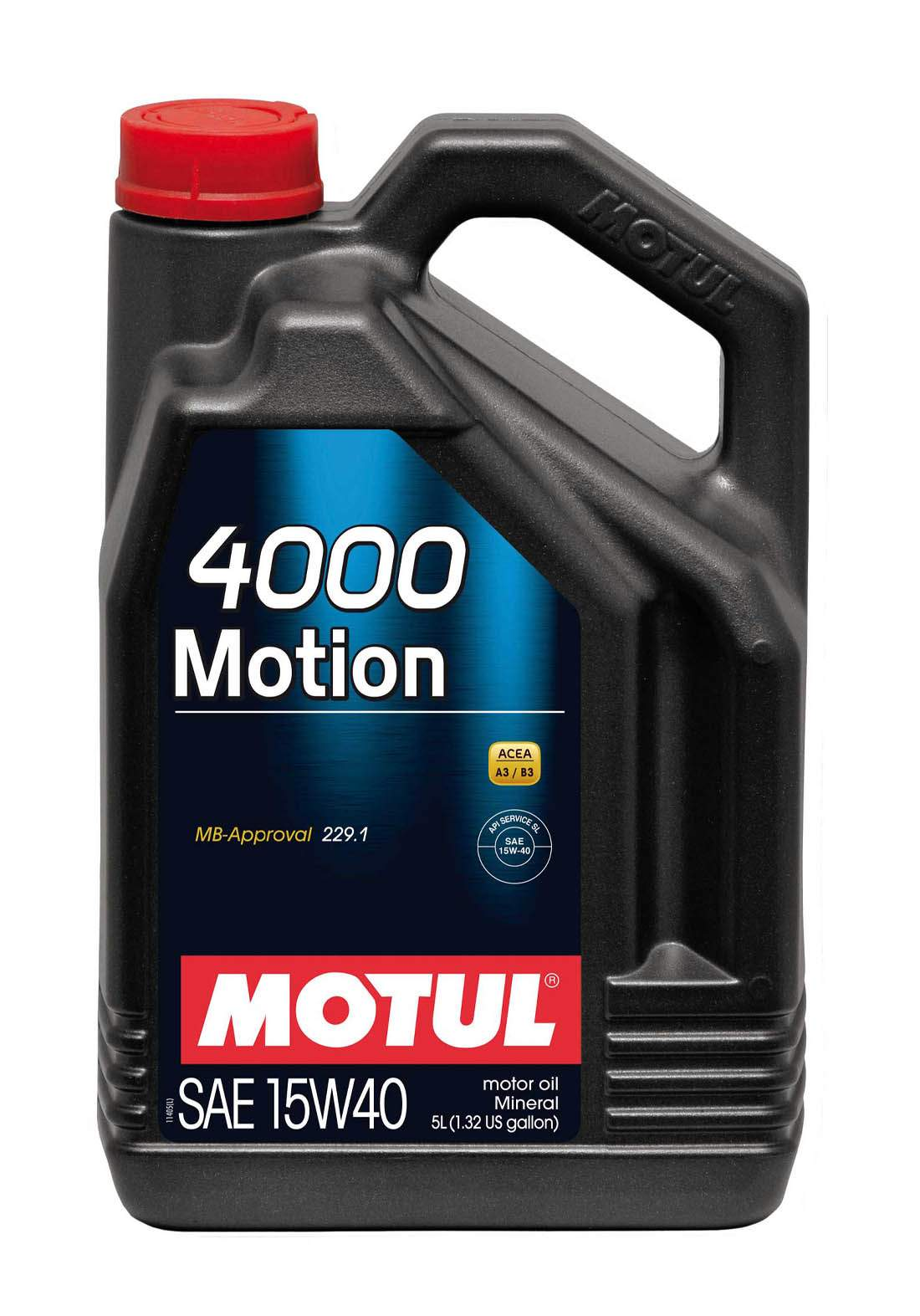 Motul 15w40 4000  Motion Mineral Automotive oil 5L زيت معدني للسيارات