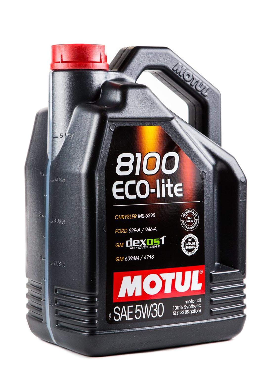 Motul 5w30 Eco-lite 8100  100% Synthetic oil 5L  زيت تخليقي 100% للسيارات