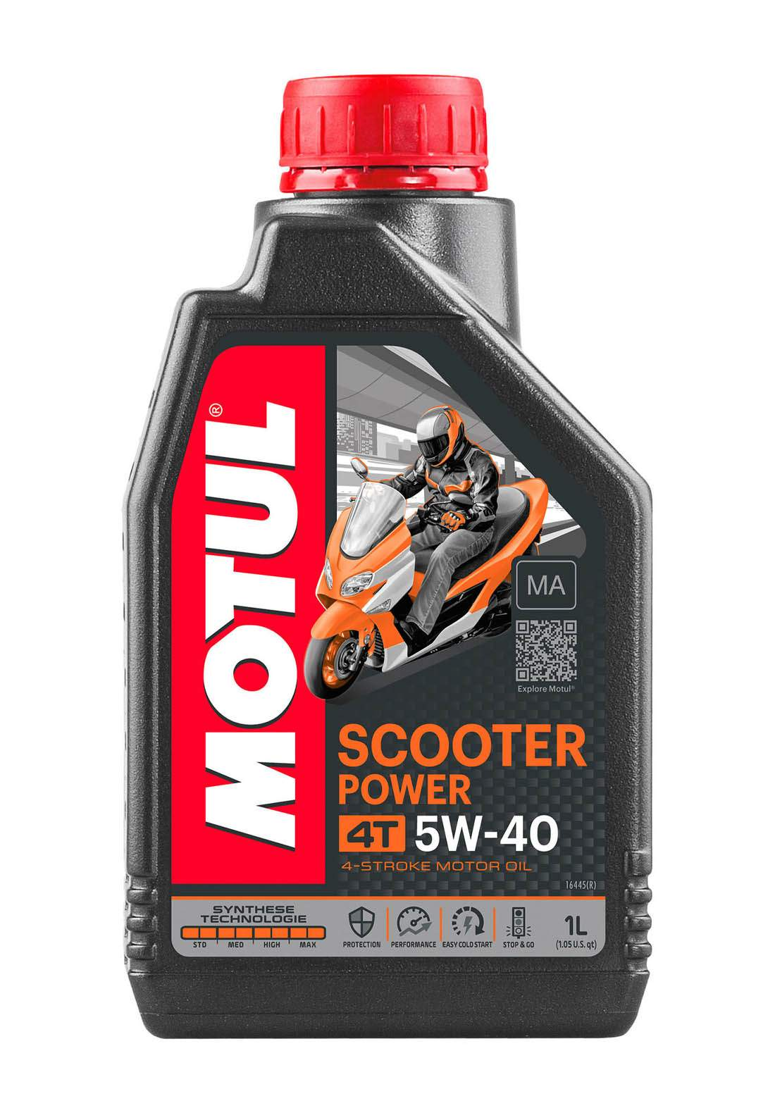 Motul 5w40 Scooter Power Fully Synthetic Oil 1 L زيت محرك الدراجة النارية