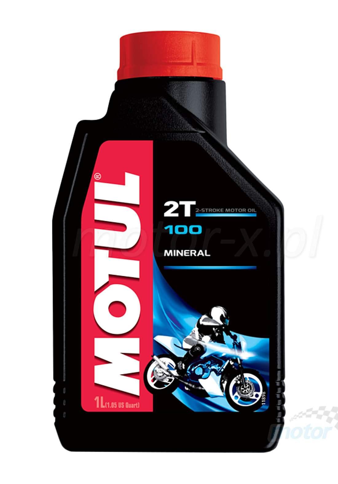 Motul 2T 100 Engine Oil Motomix Mineral 1 L زيت محرك الدراجة النارية
