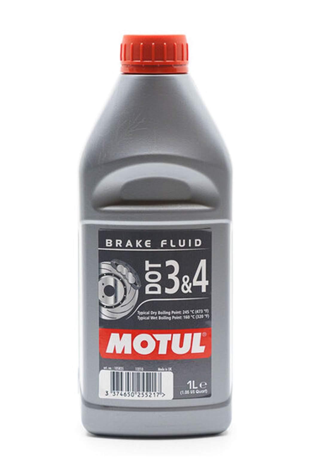 Motul Dot3&4 Brake Fluid fully synthetic 1 L زيت للفرامل