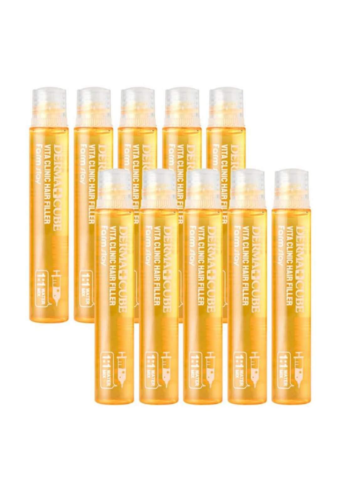 farmstay Dermacube Vita Clinic Hair Filler 10pcs 130ml فيلر للشعر