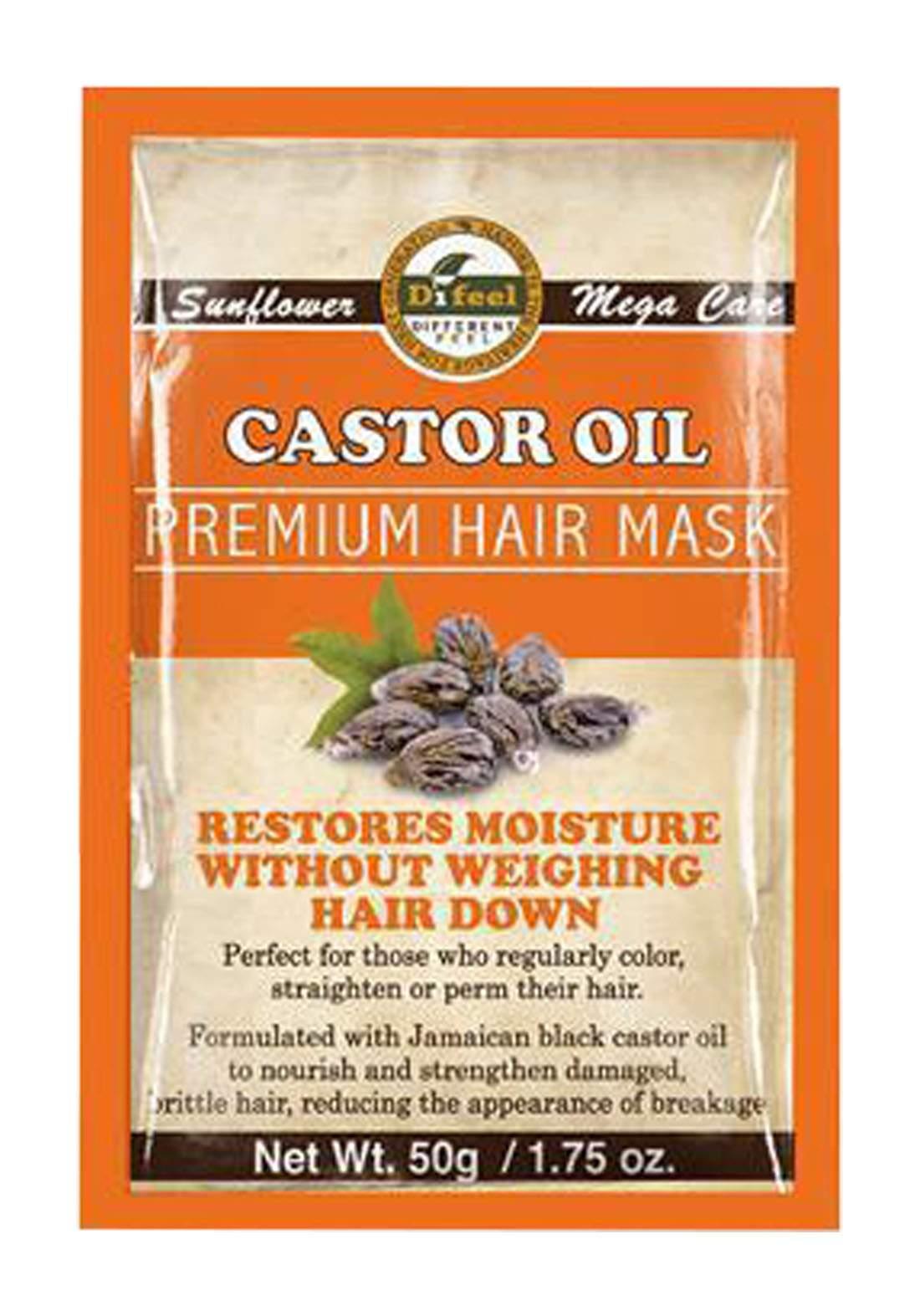 Difeel SH31_CAS18 Sunflower Premium Hair Mask Castor Oil 50g قناع للشعر