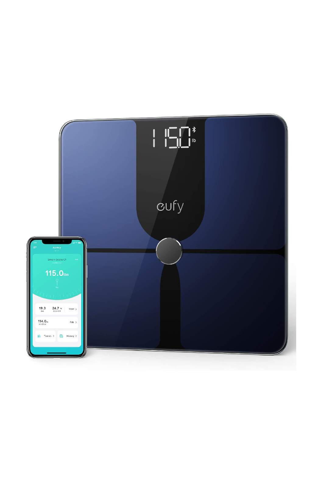 Anker T9147 Smart Scale P1 with Bluetooth - Navy   ميزان رقمي