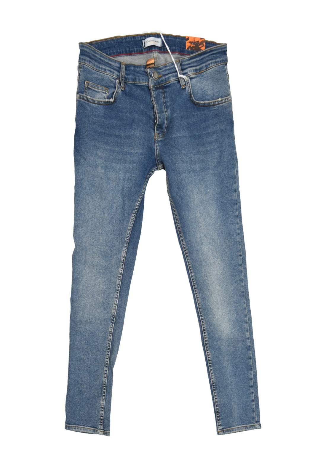 بنطلون رجالي جينز ازرق اللون