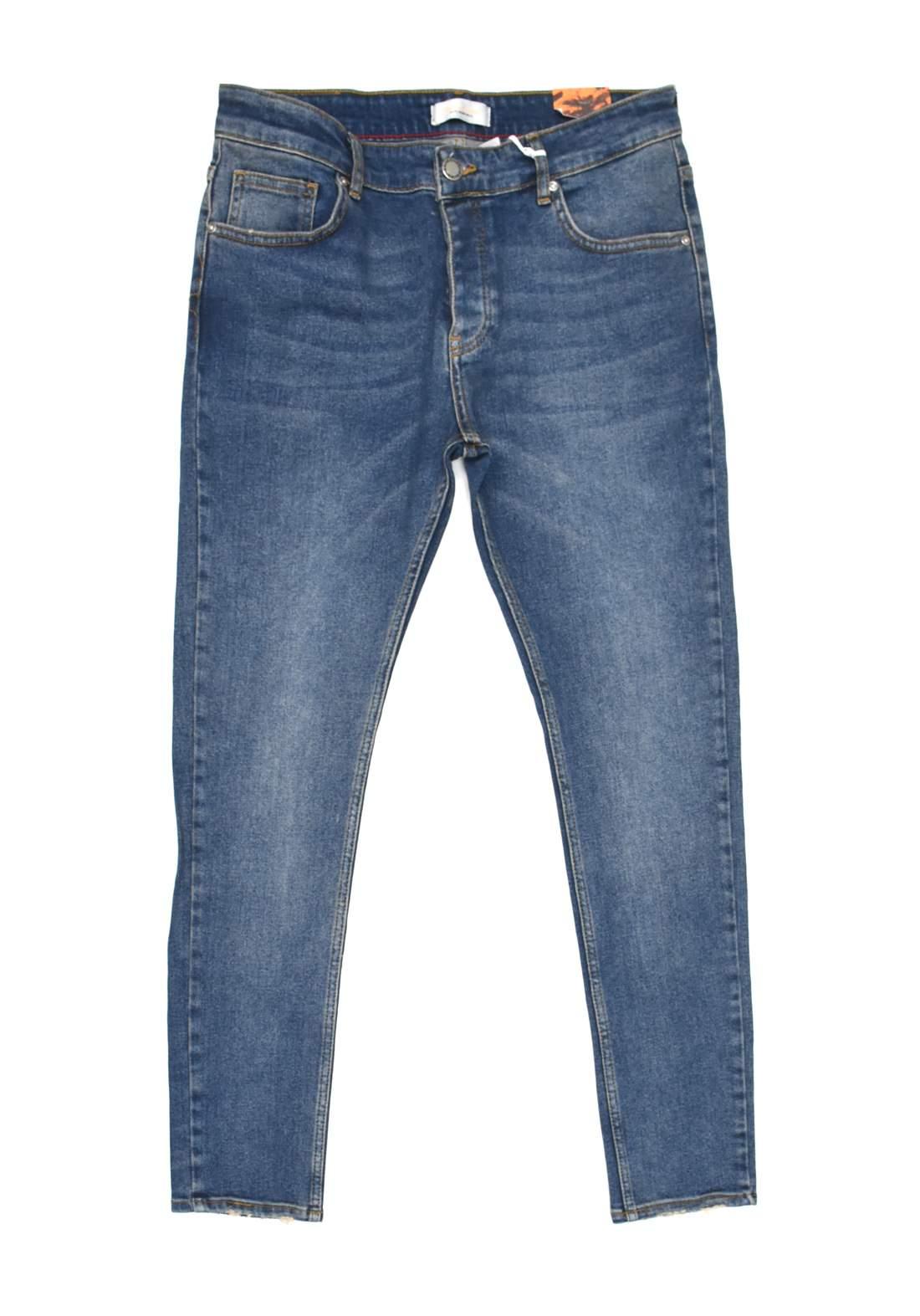 بنطلون جينز رجالي ازرق اللون