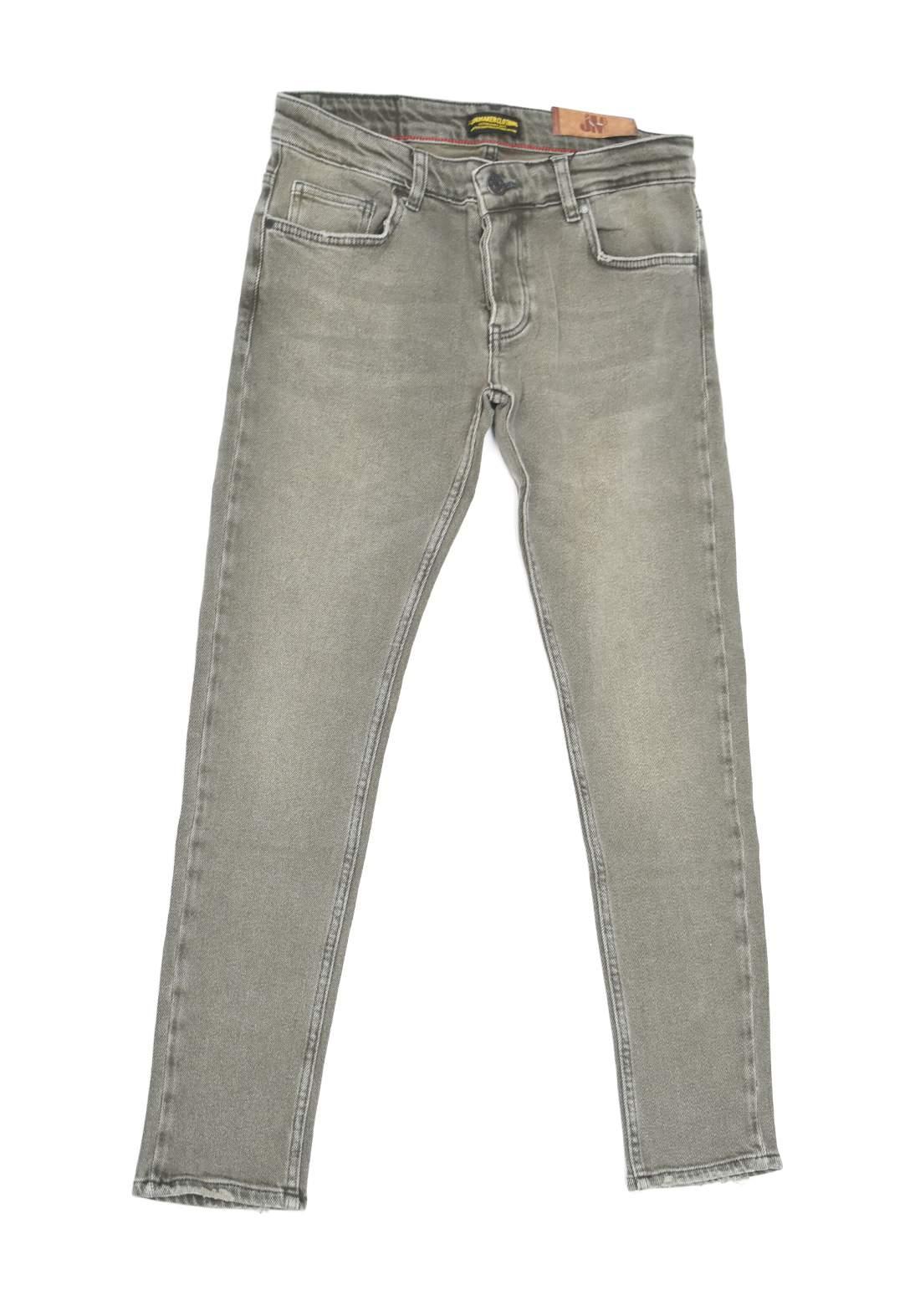 بنطلون جينز رجالي رصاصي اللون