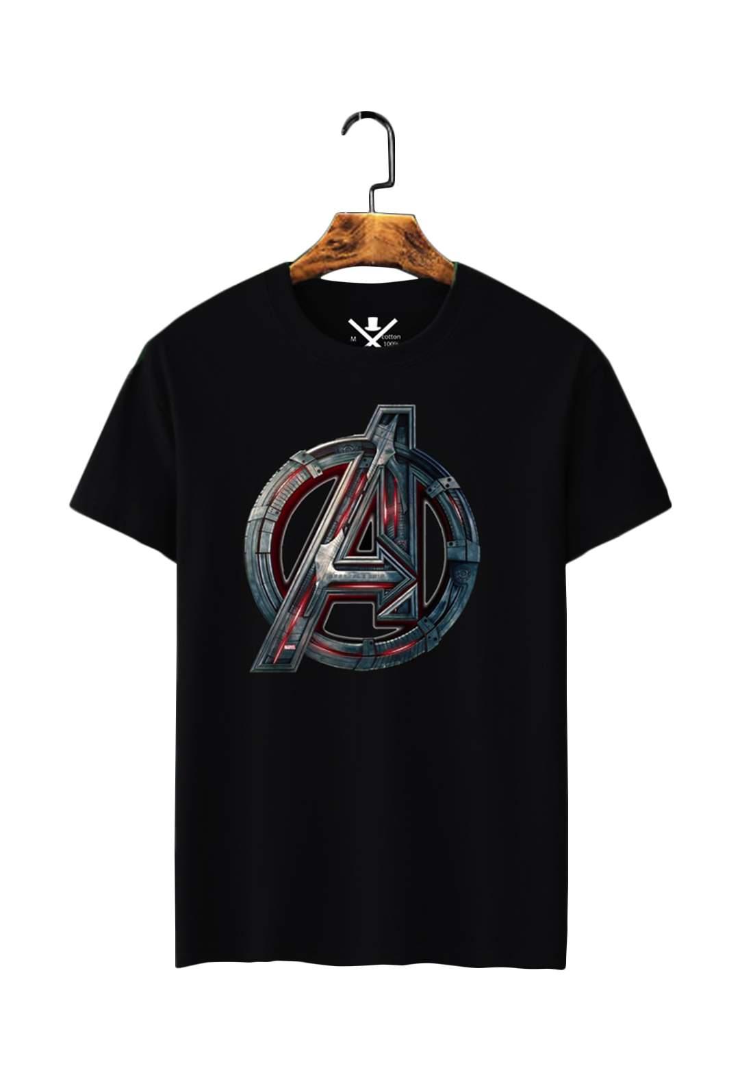 تيشيرت رجالي Avengers نصف كم