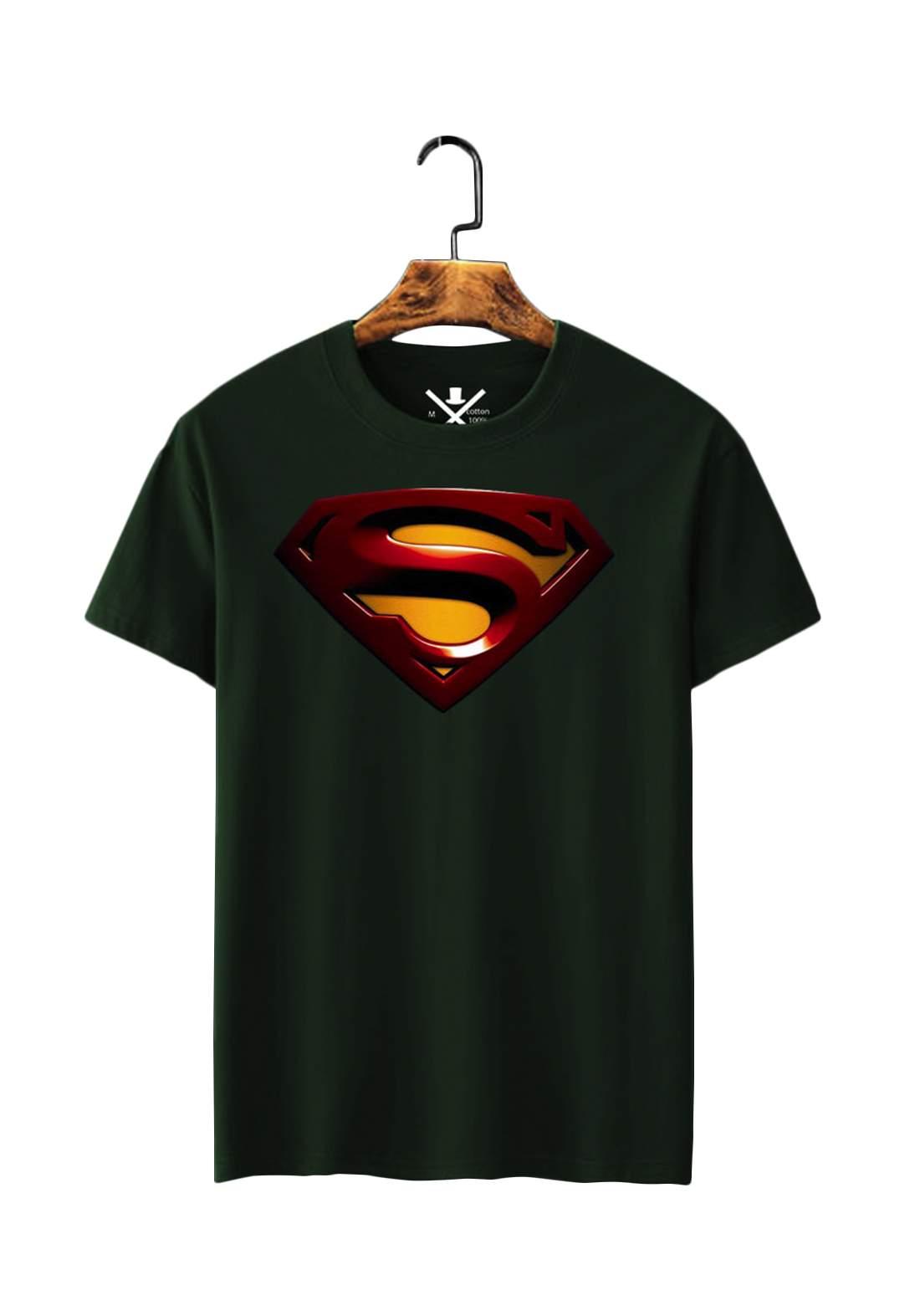 تيشيرت رجالي Super Man نصف كم