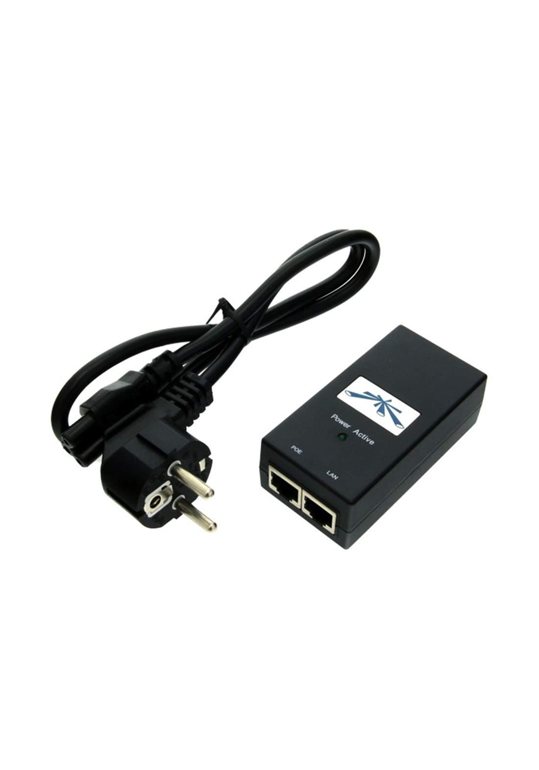 Ubiquiti Carrier PoE Adapter 15V - Black محولة راوتر