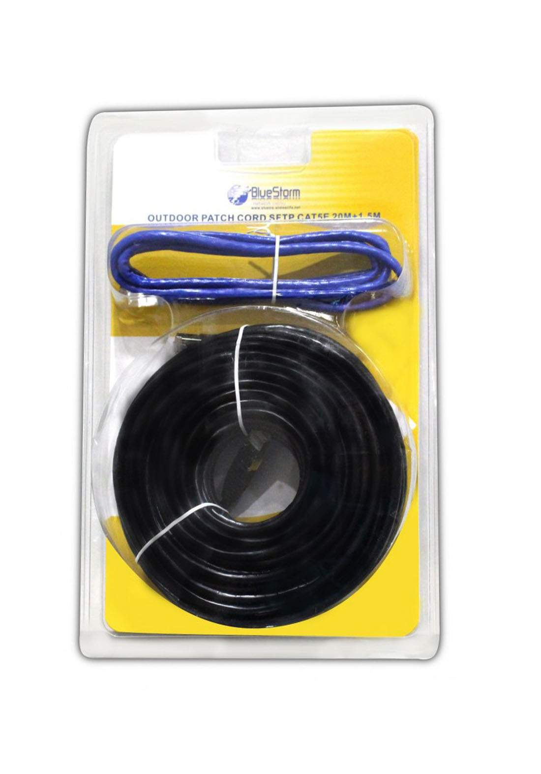 Blue Storm Cable for Internet Devices 20 meter - Black