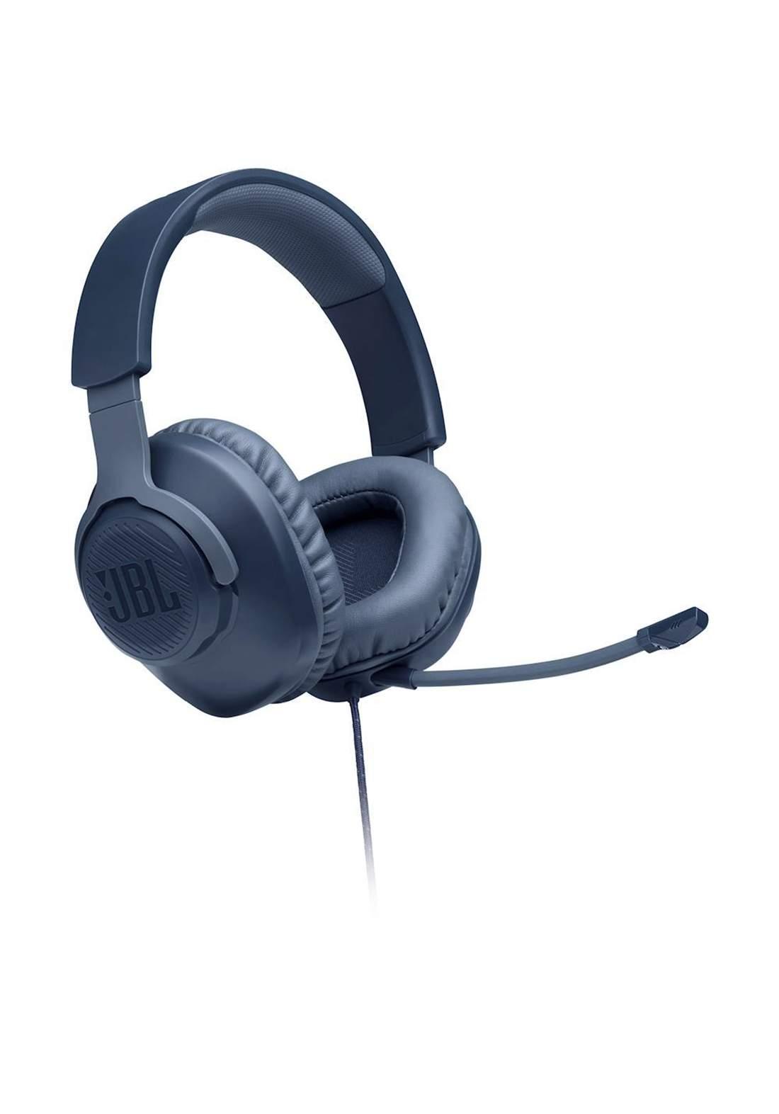 JBL Quantum 100 Wired Gaming Headset - Blue سماعة سلكية
