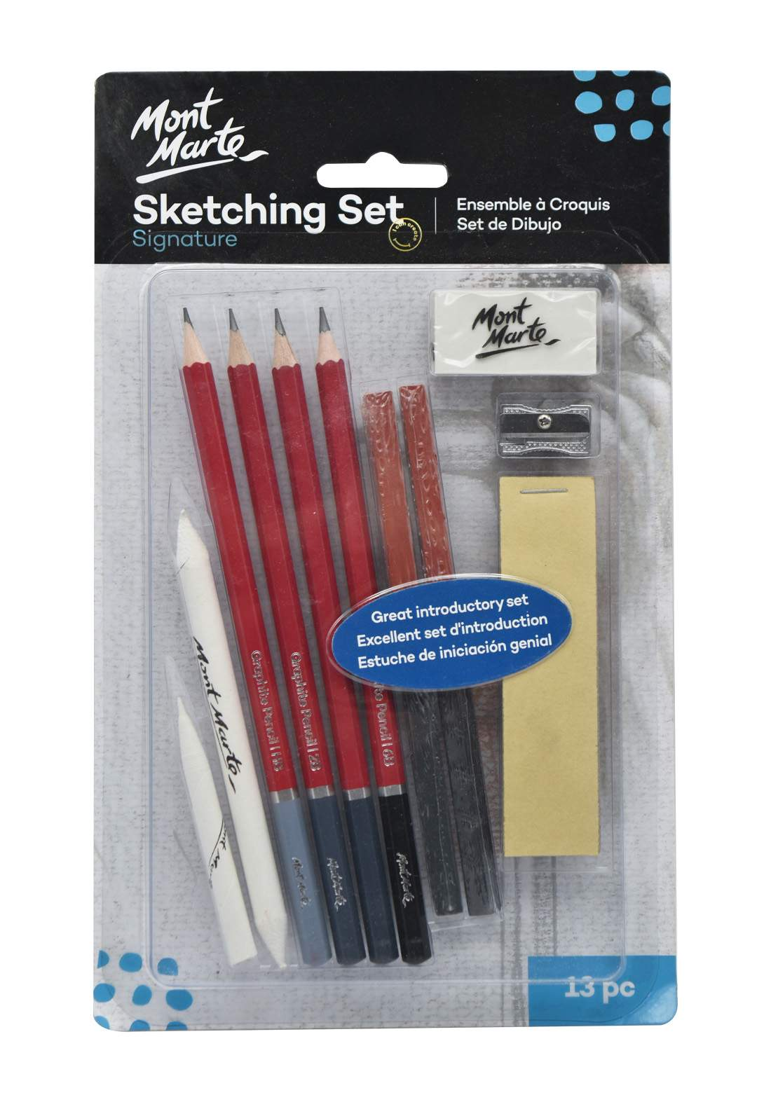 Mont Marte Signature Sketching Set 13 Pcs أقلام رصاص