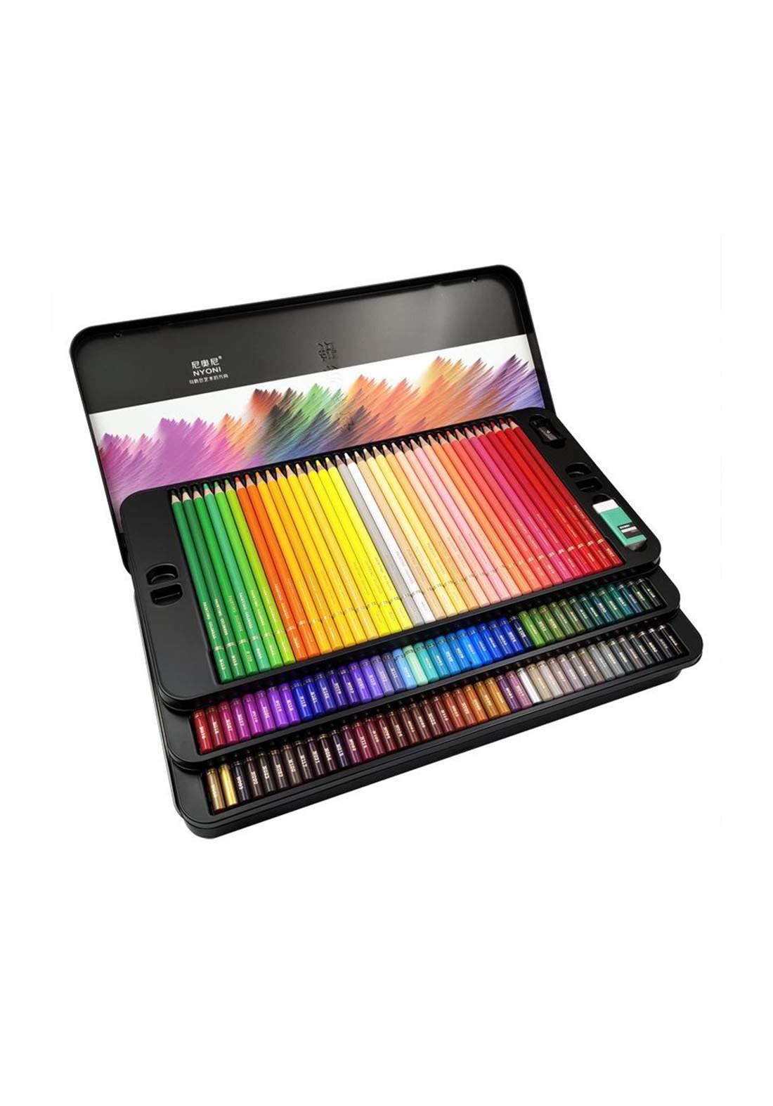 Nyoni Wood Colored Pencil Set 120Pcs اقلام تلوين خشبية