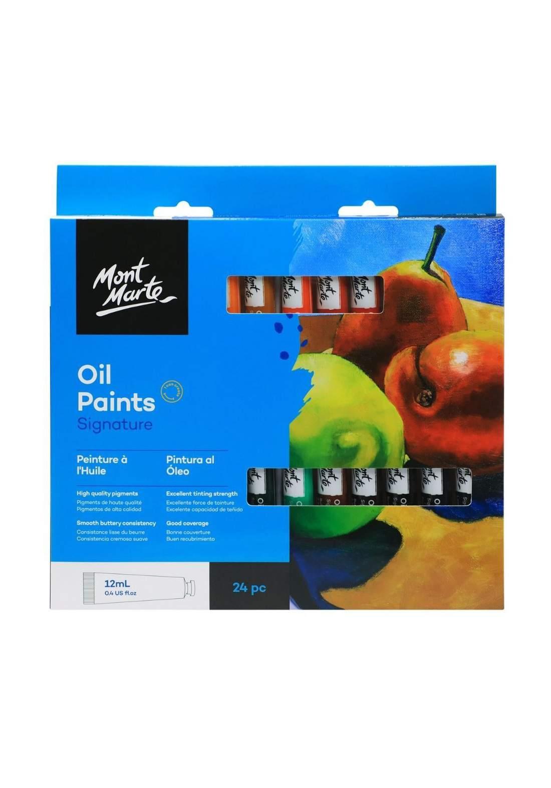 Mont Marte Premium Paints Set 24 Pcs الوان زيتية