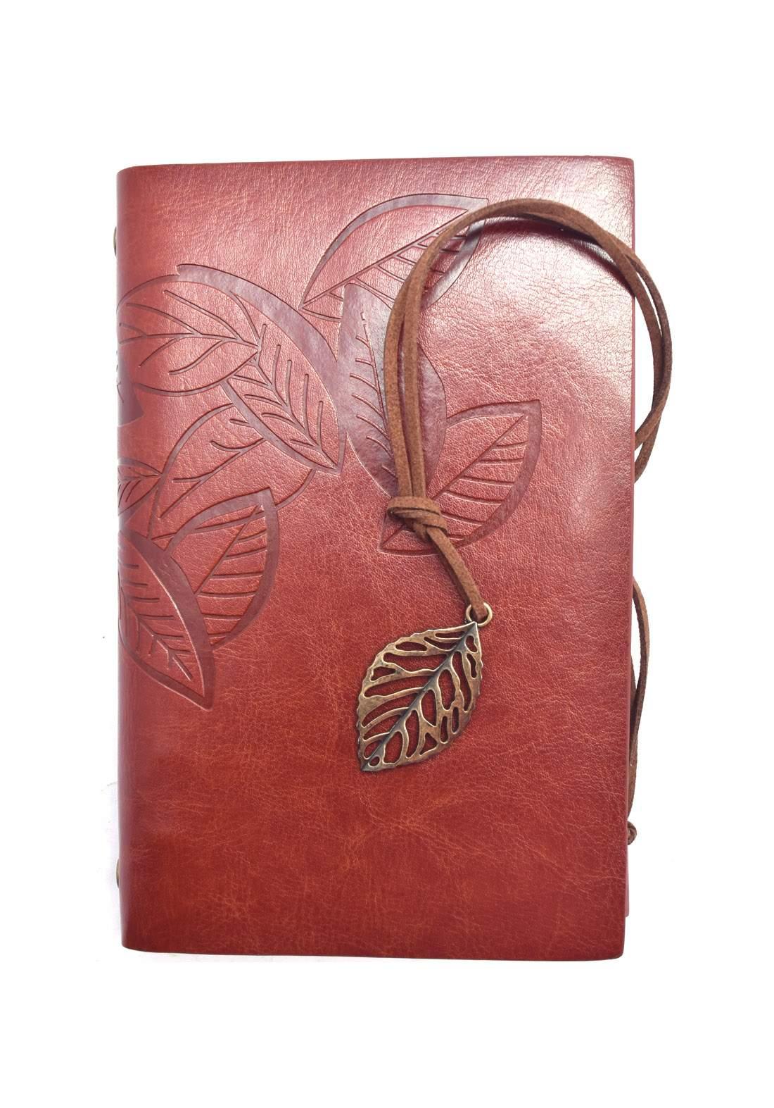 Leather notebook 75 Sheets (18.5*13cm)-دفتر ملاحظات جلد 75 ورقة