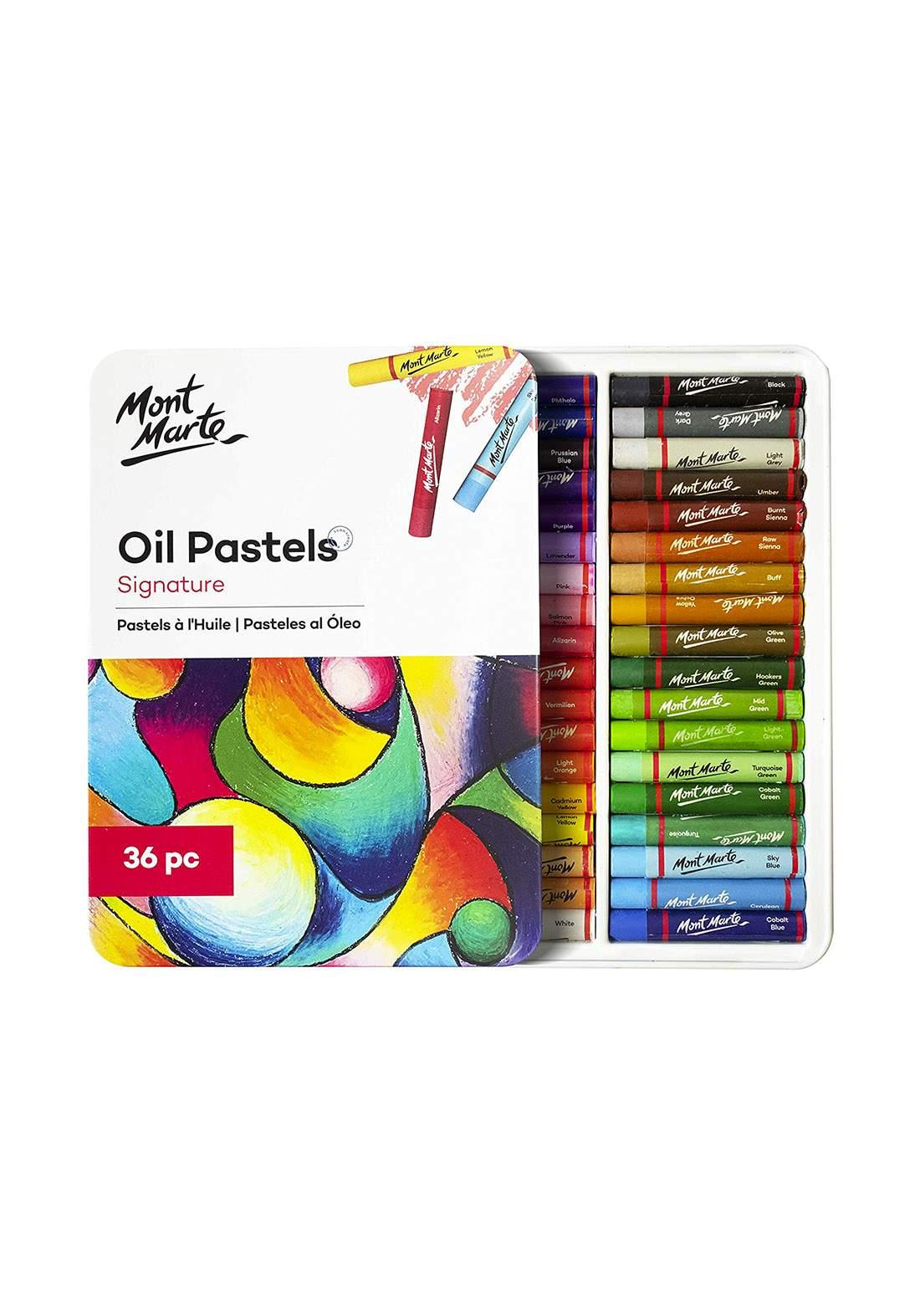 Mont Marte Oil Pastels Signature – 36 Pcs الوان باستيل 36 لون