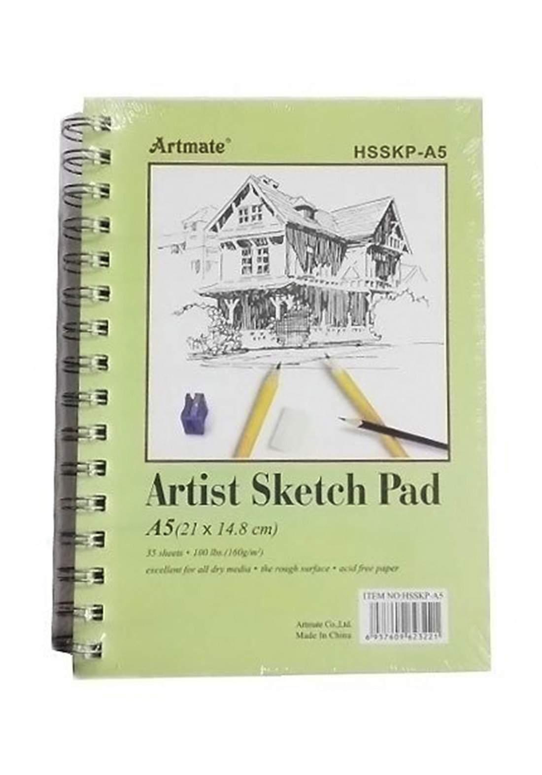 Artist Sketch Pad ( 21X14.8cm) 35 Sheets A5 160g -  دفتر رسم  35 ورقة