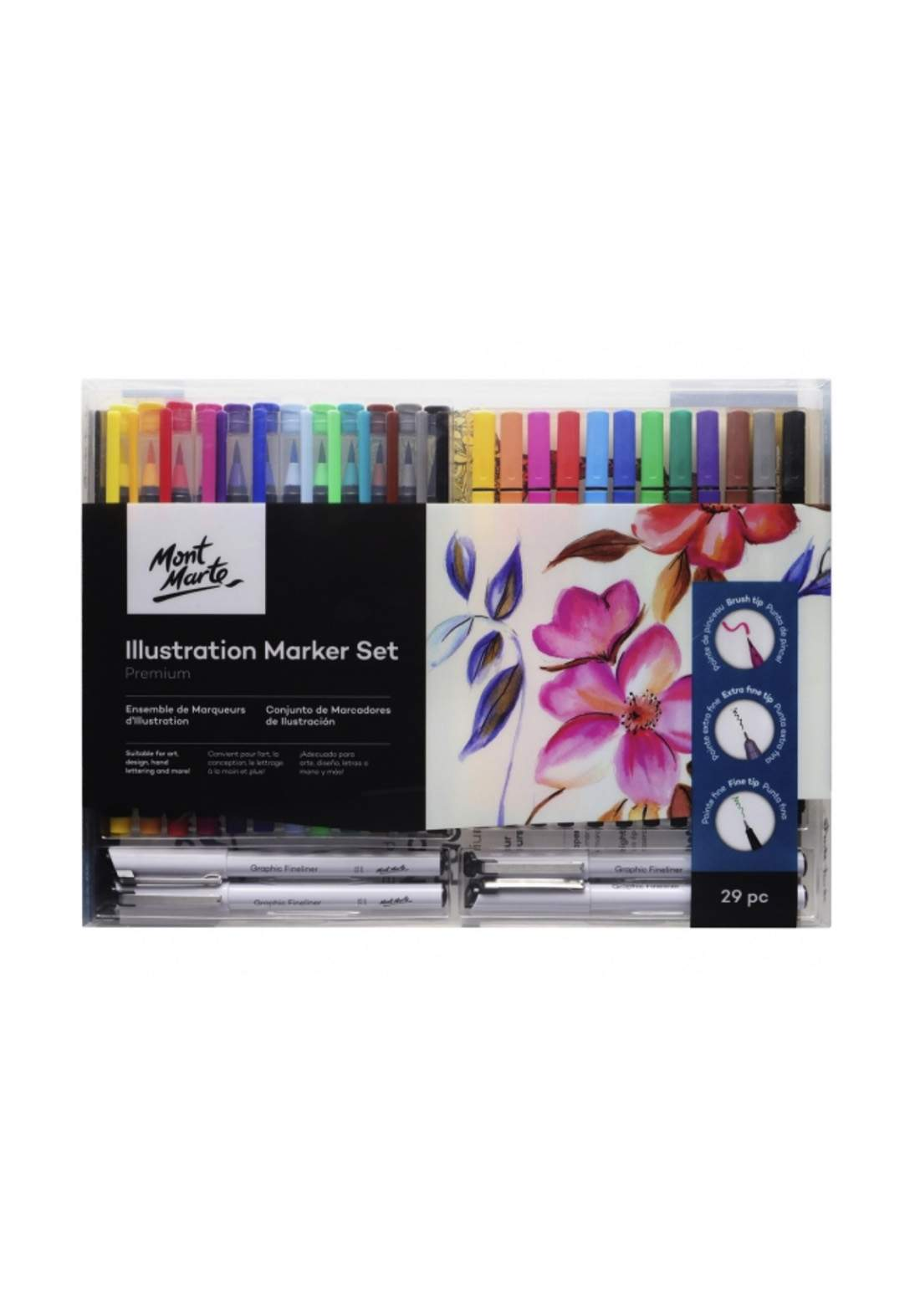 Premium Illustration Marker Set 29 pc- اقلام تلوين 29 لون