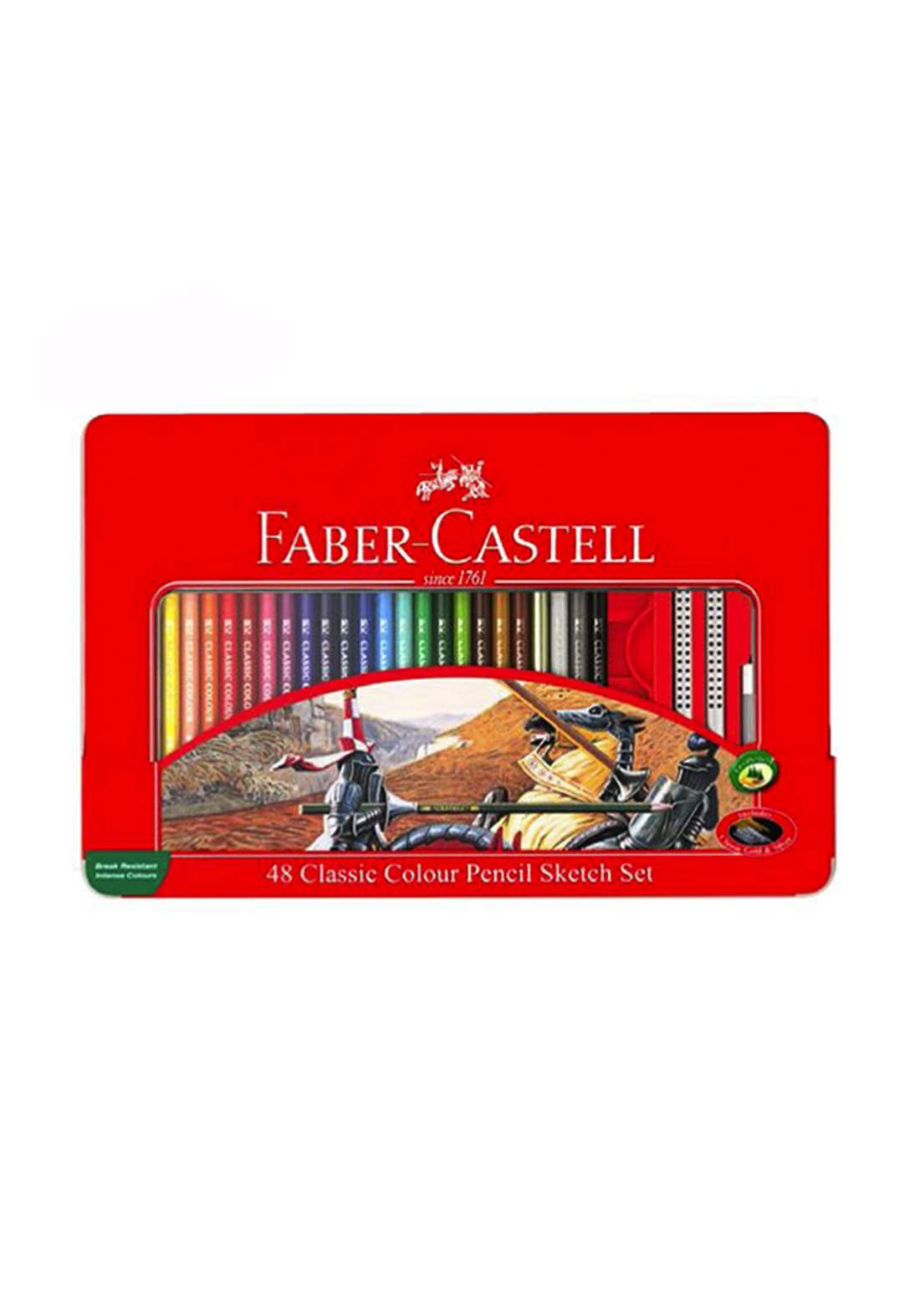 Faber Castell  48 Classic Colour Pencils اقلام تلوين خشبية 48 لون