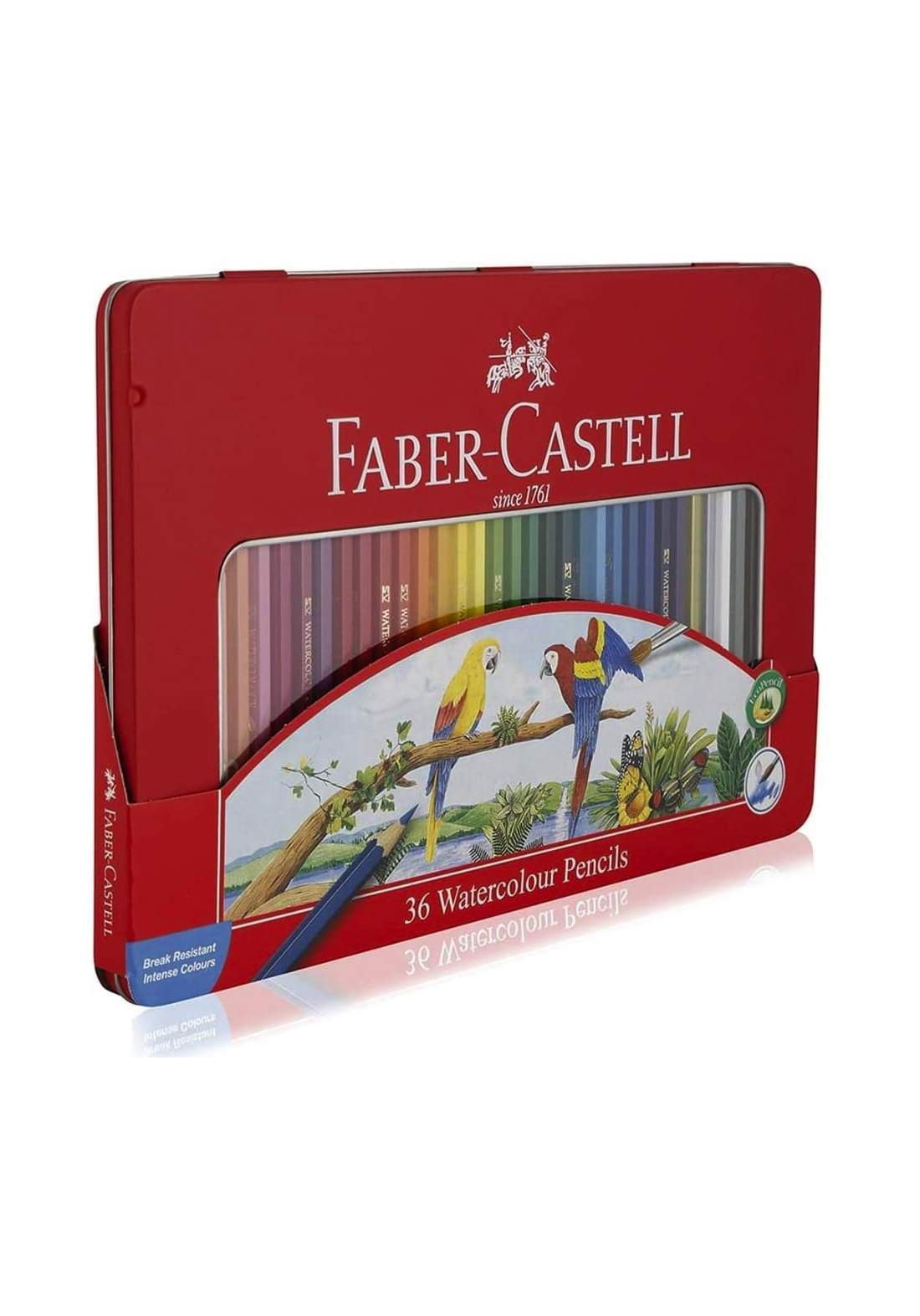 Faber Castell 36 Water Pencil Color with Iron Box أقلام تلوين مائية 36 لون