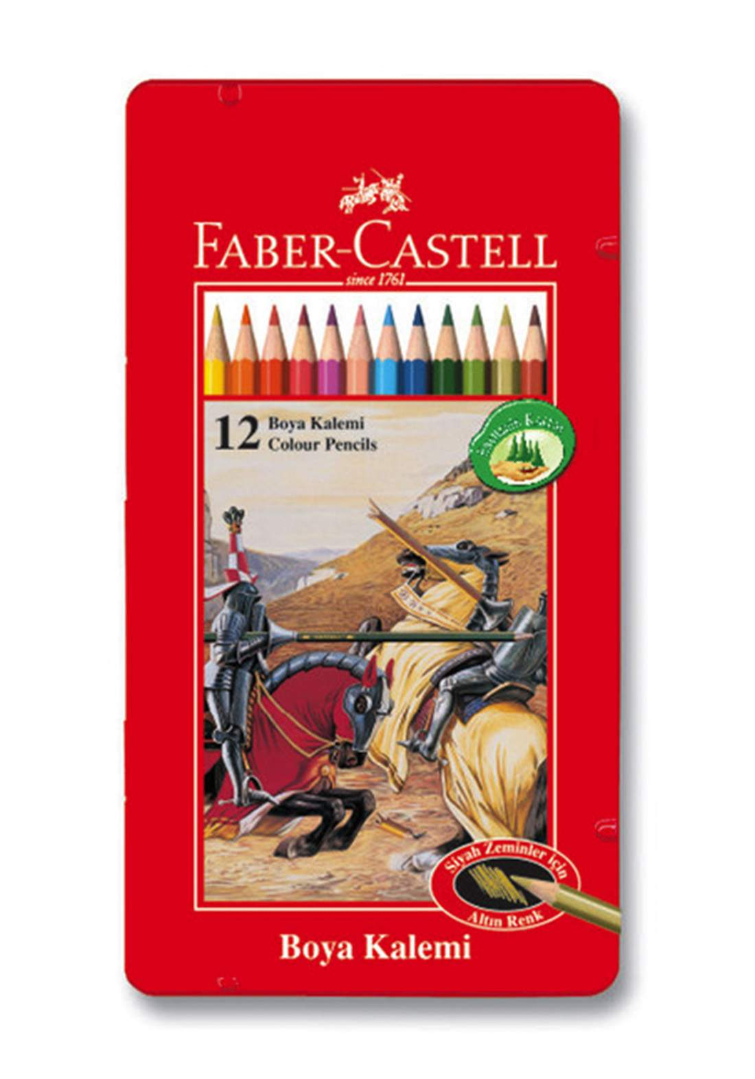 Faber Castell 12 Colores Especiales  اقلام تلوين خشبية 12 لون