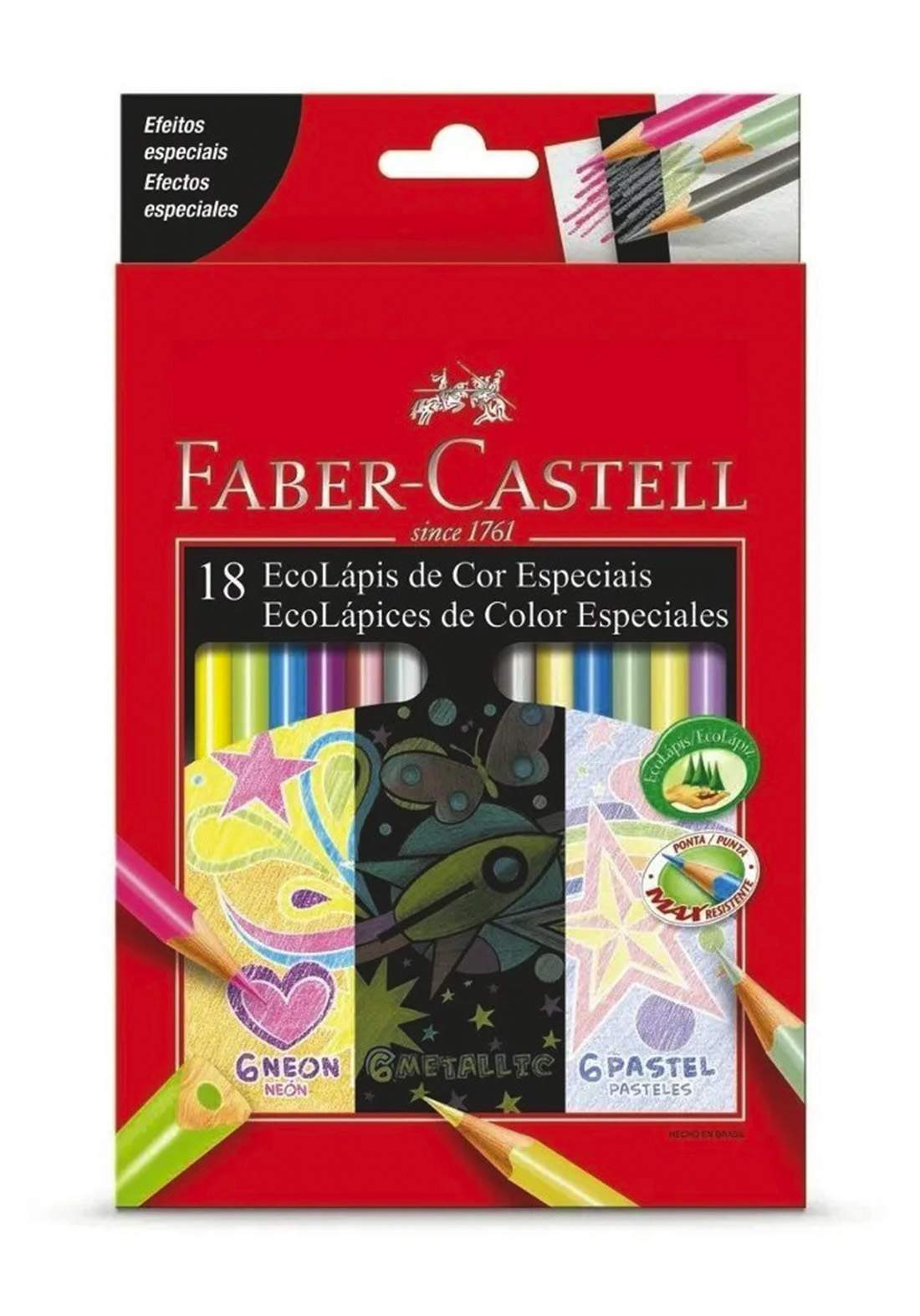 Faber Castell 18 Colores Especiales  اقلام تلوين 18 لون
