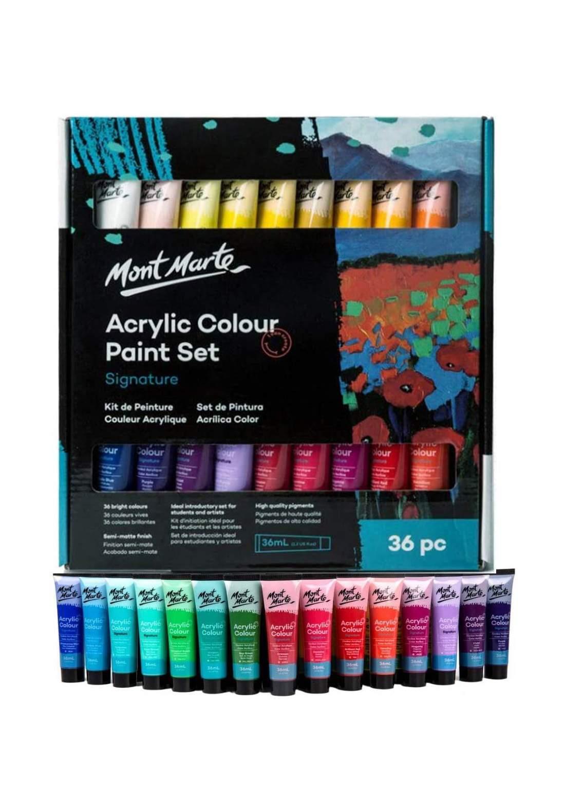 Mont Marte Acrylic Paint Set 36 Pcs x 36 ml  مجموعة الوان أكريليك