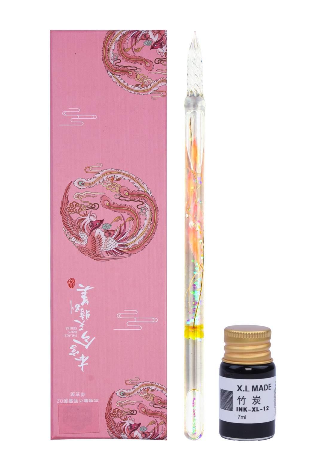 Crystal Glass Pen Glass قلم حبر زجاجي
